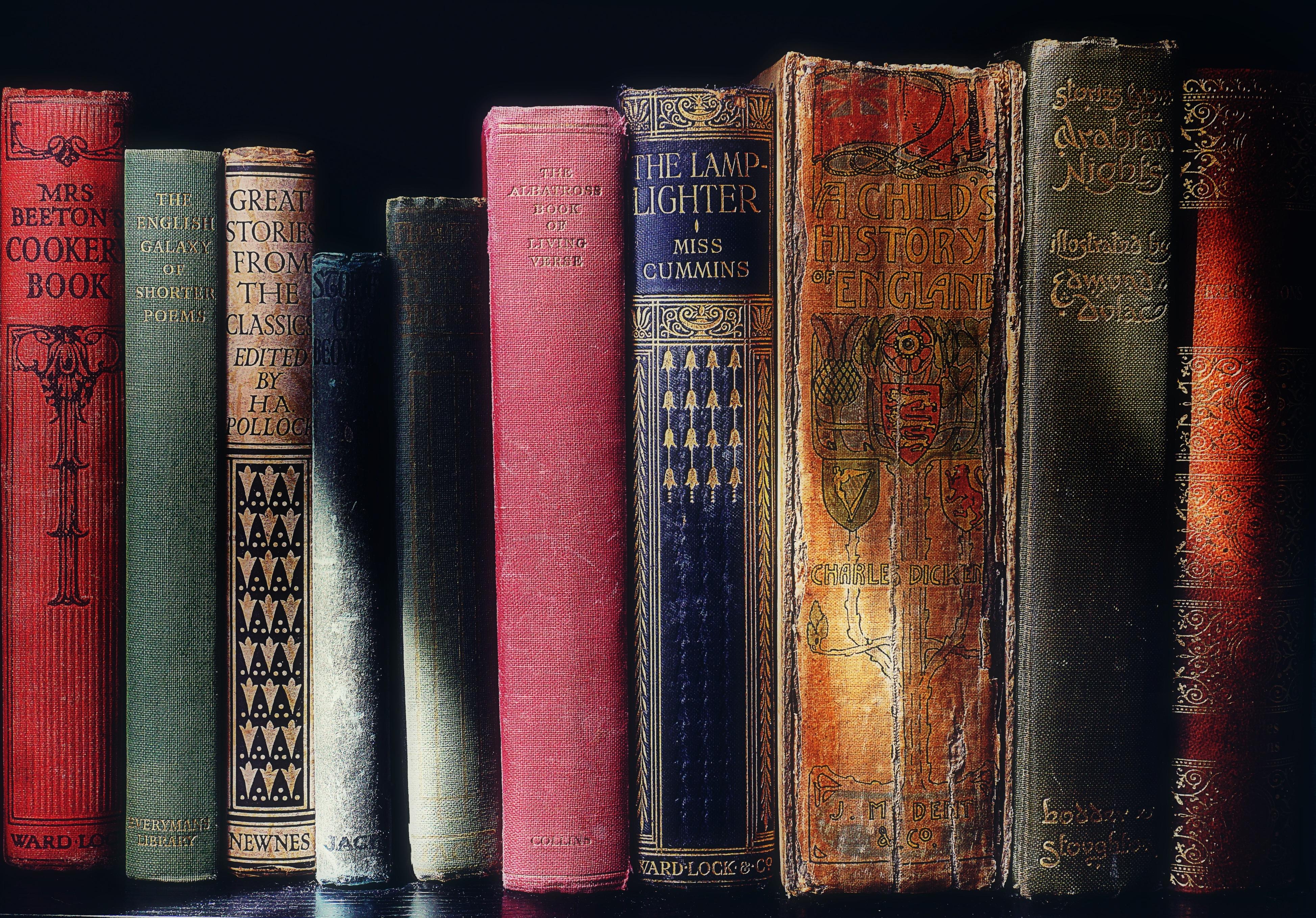 Books Old Bookshelf Vintage Reading Literature Book Modern Art Publication