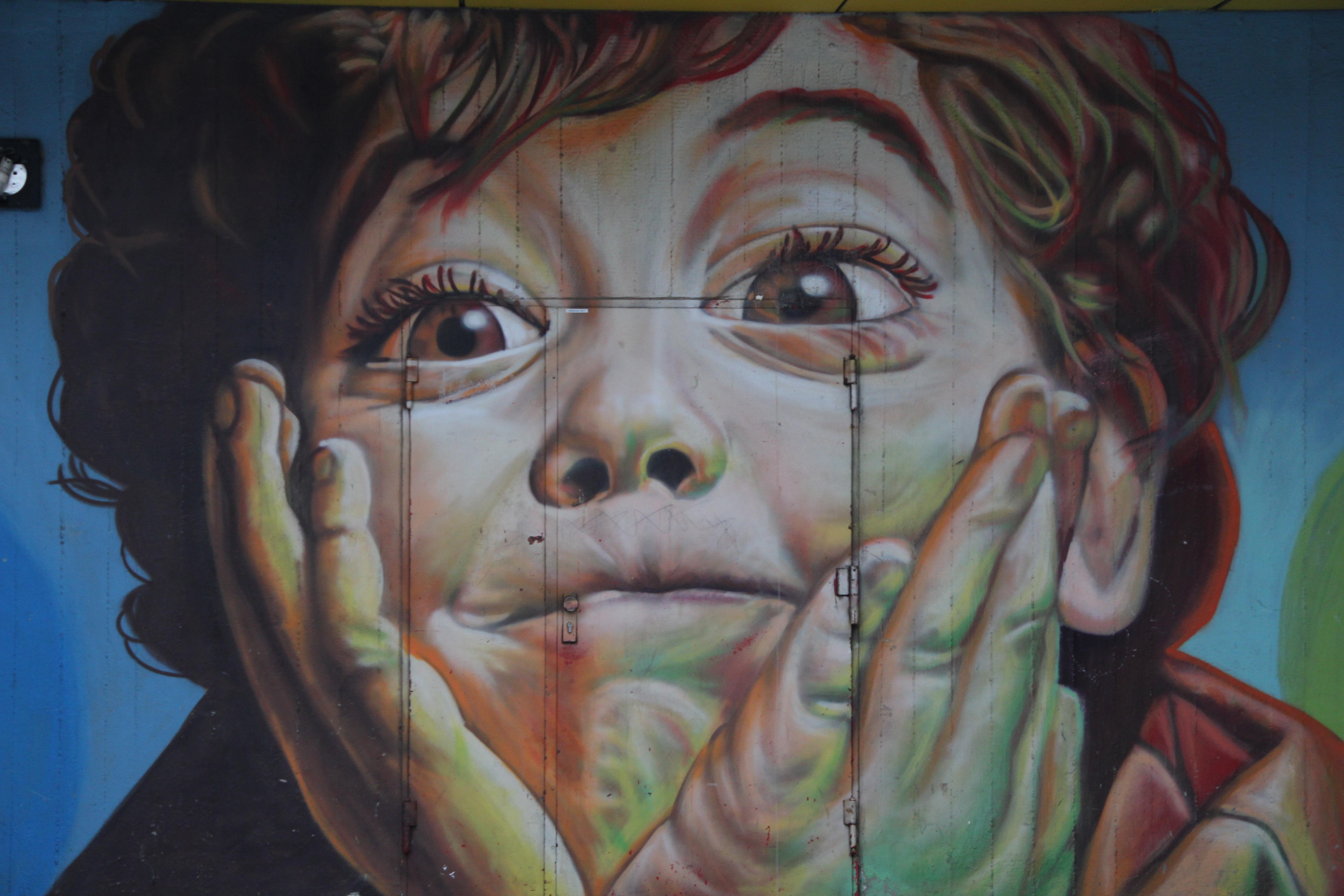 Gratis afbeeldingen jongen portret kleur graffiti schilderij