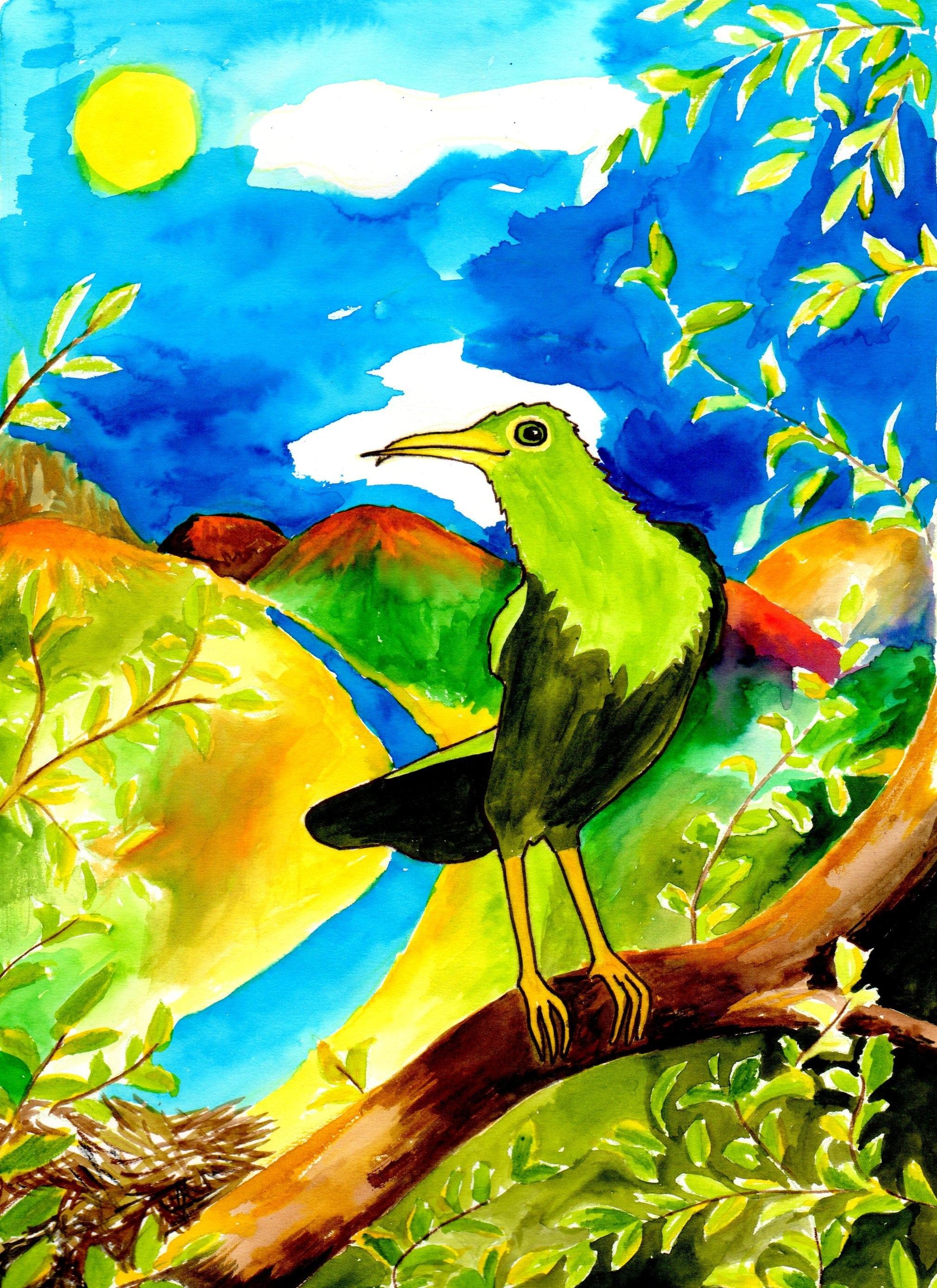 100 Gambar Lukisan Flora Fauna Kekinian