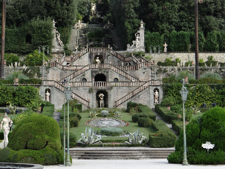Brücke Wahrzeichen Italien Toskana Garten Anbetungsstätte Treppe Kloster  Immobilien Grünanlage Balustraden Kollodi Garten Der Villa Garzoni