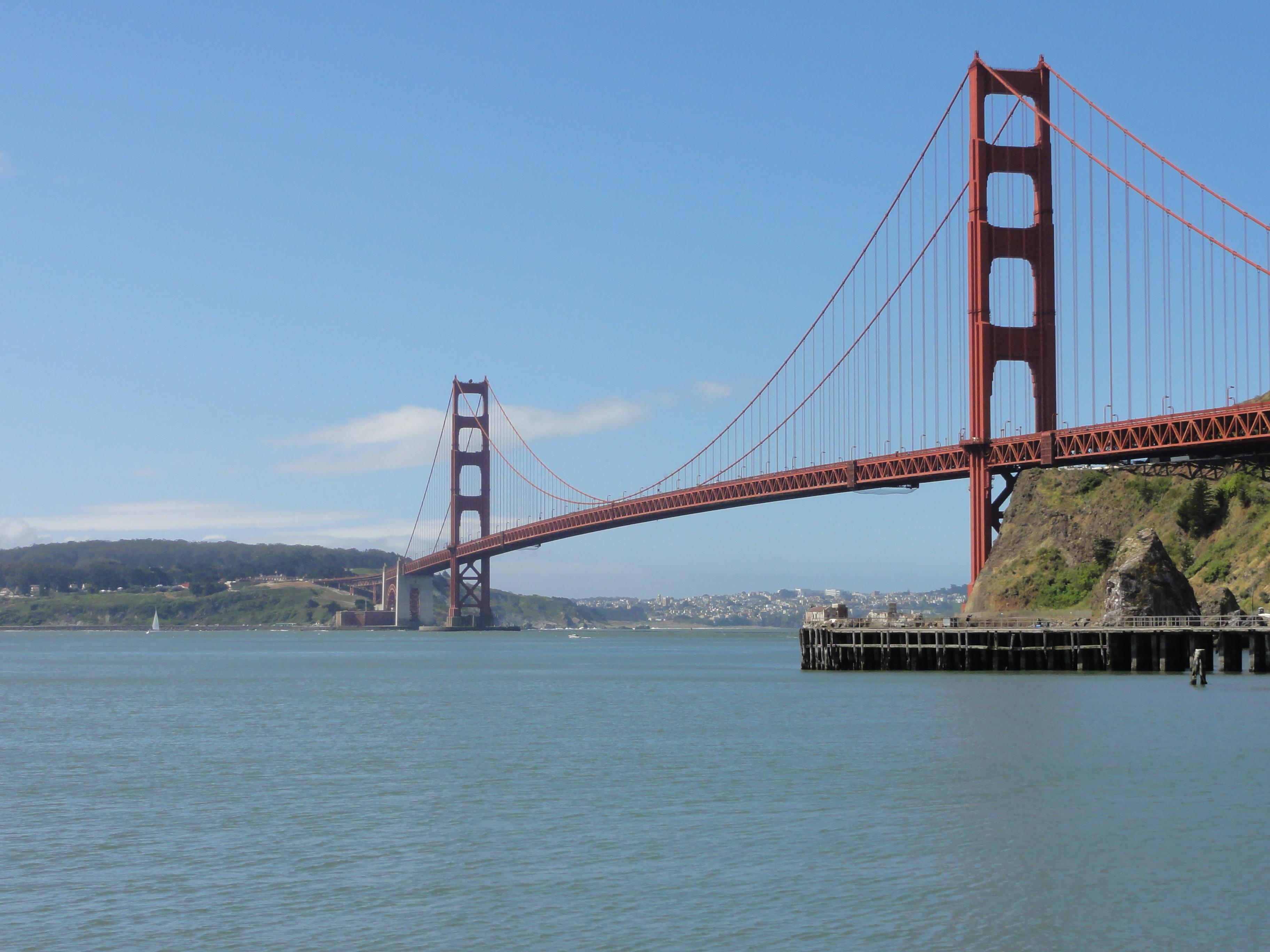 Free Images : san francisco, suspension bridge, golden gate ...