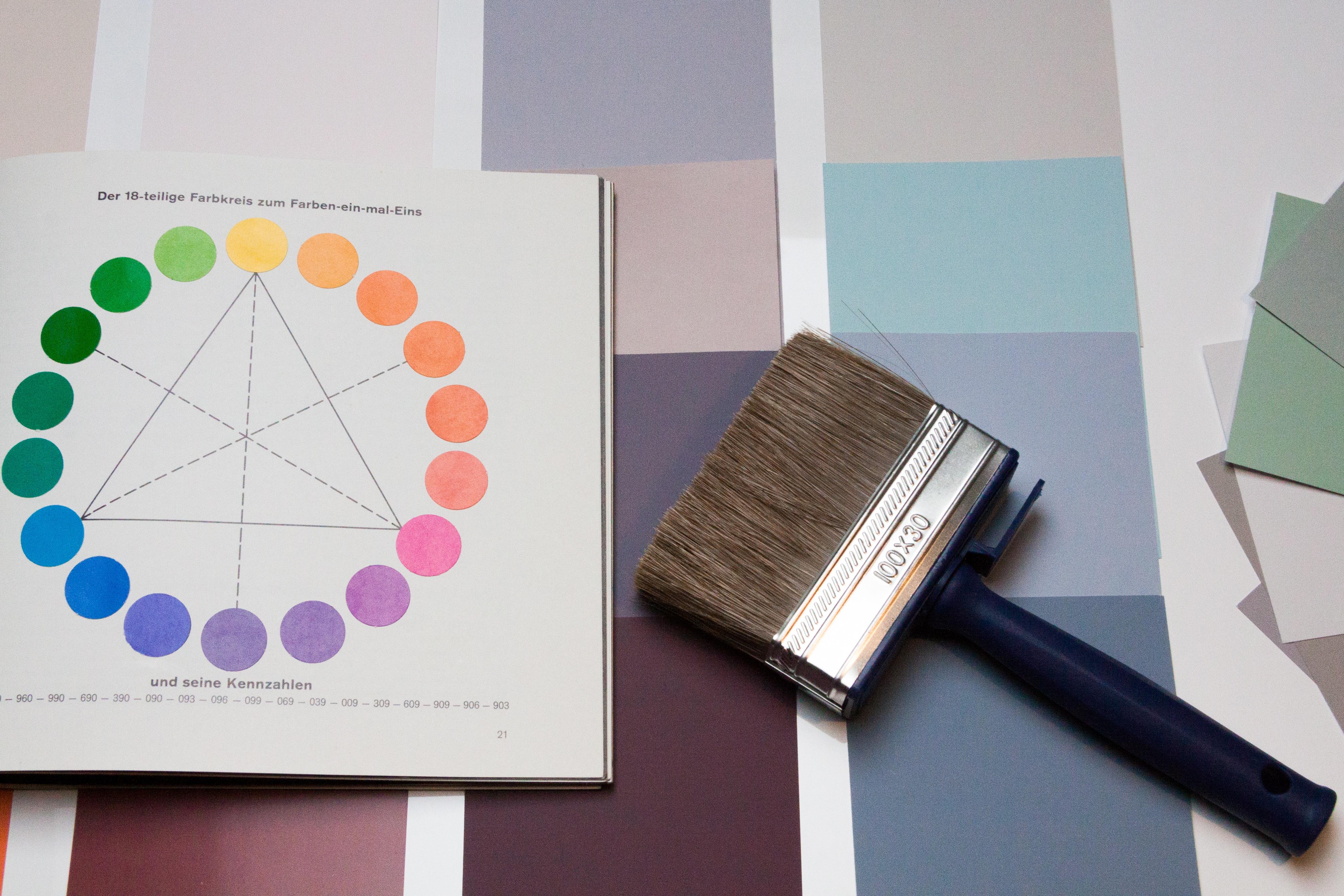 Kostenlose foto b rste farbe papier material innenarchitektur schriftart maler - Wandfarben design ...