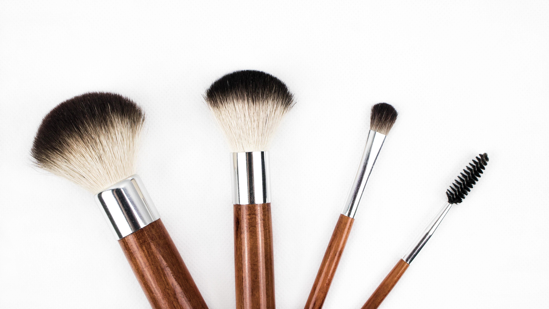 Gambar : sikat, alat, bubuk, dandan, kuas makeup, pemerah ...