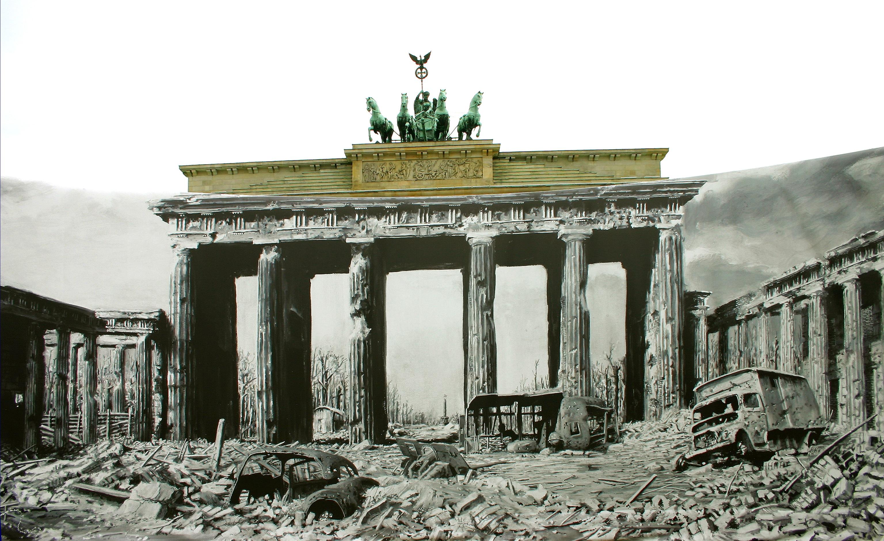 free images building landmark goal ruins berlin brandenburg