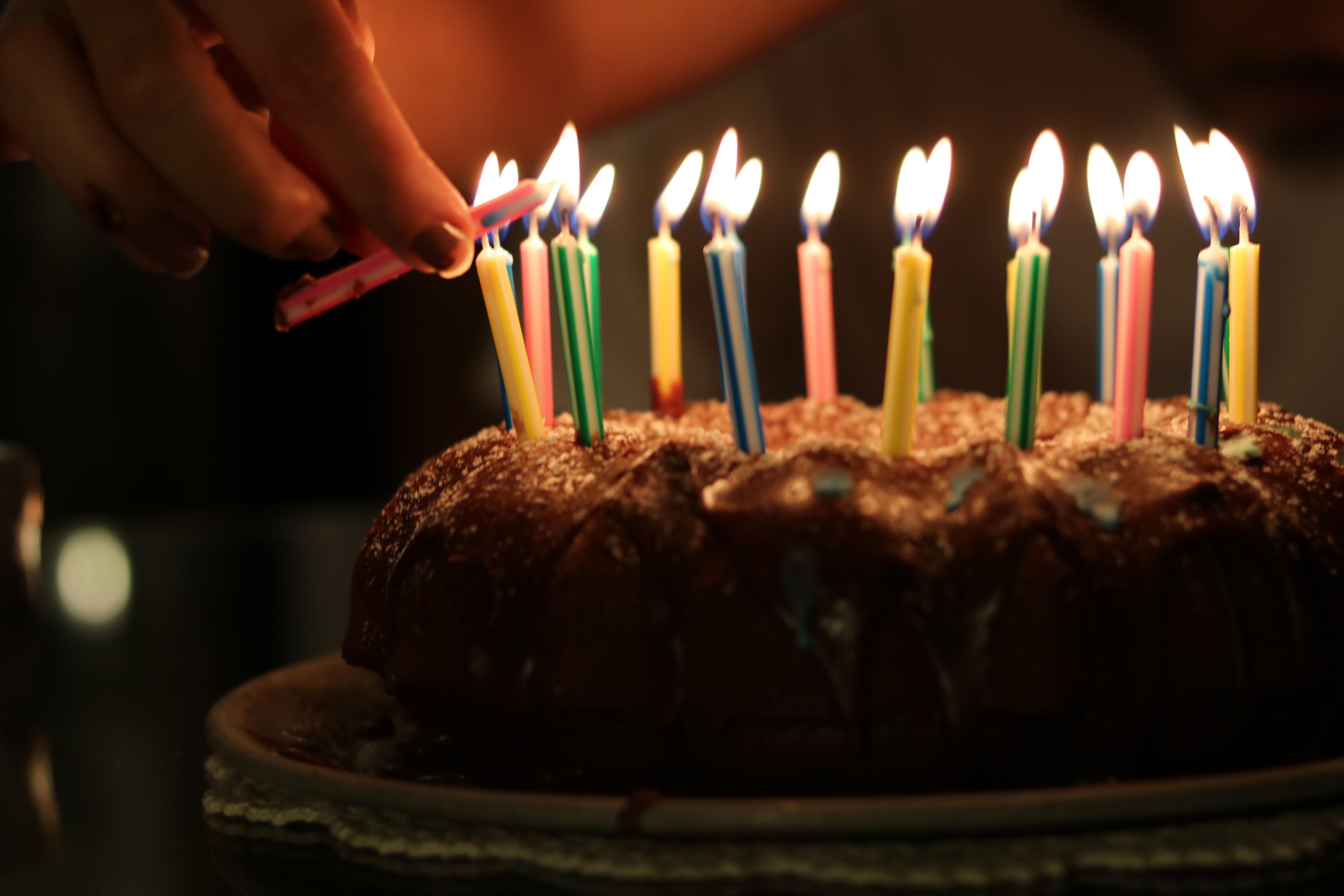 Free Images Birthday Cake Lighting Food Sweetness Chocolate Cake Dessert Baked Goods Flame Baking Icing Cuisine Birthday Candle Cake Decorating Event German Chocolate Cake Dish Pasteles 5000x3333 1614855 Free Stock Photos Pxhere