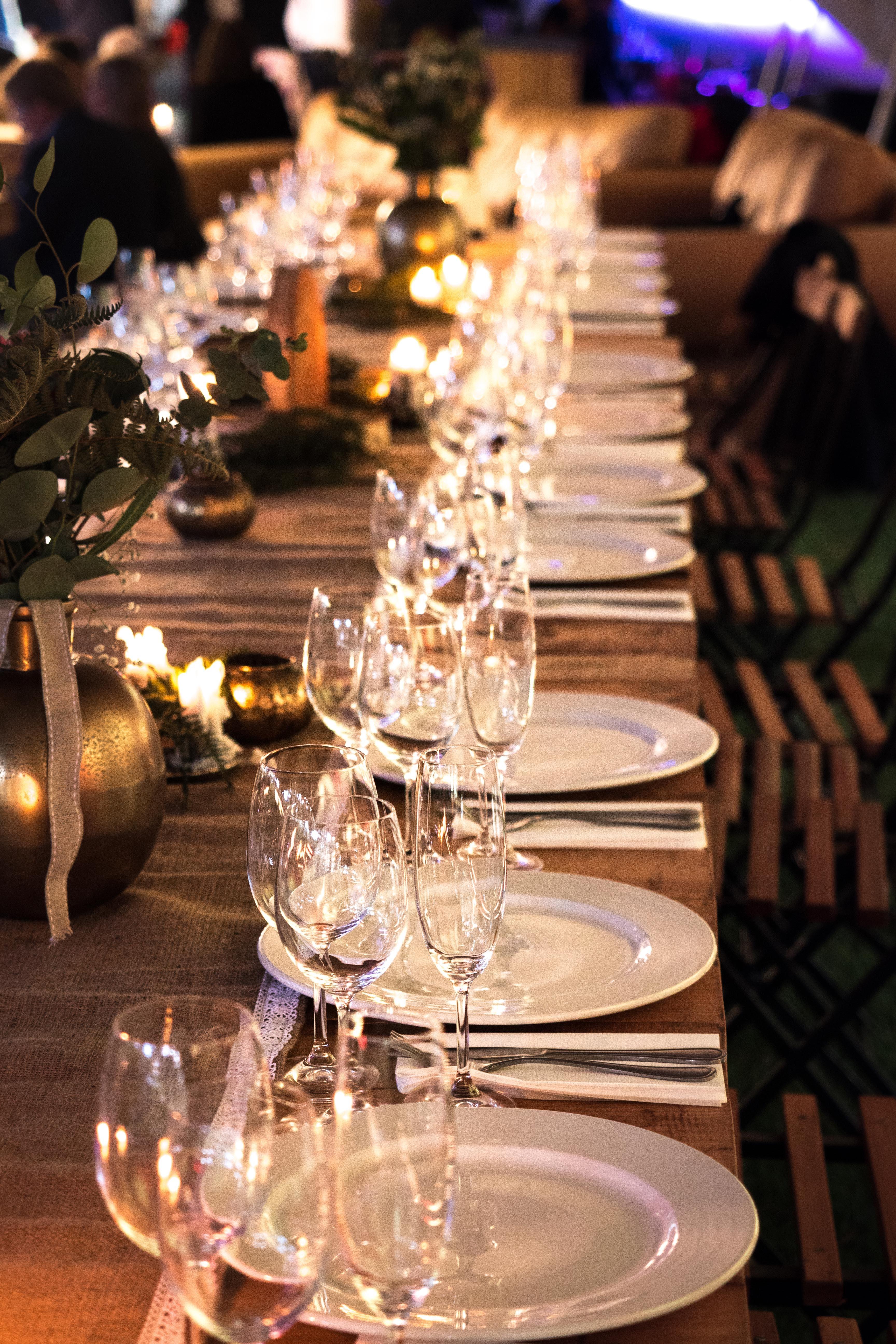 Bougie Décoration De Table images gratuites : bougie, bougies, restauration, verres à