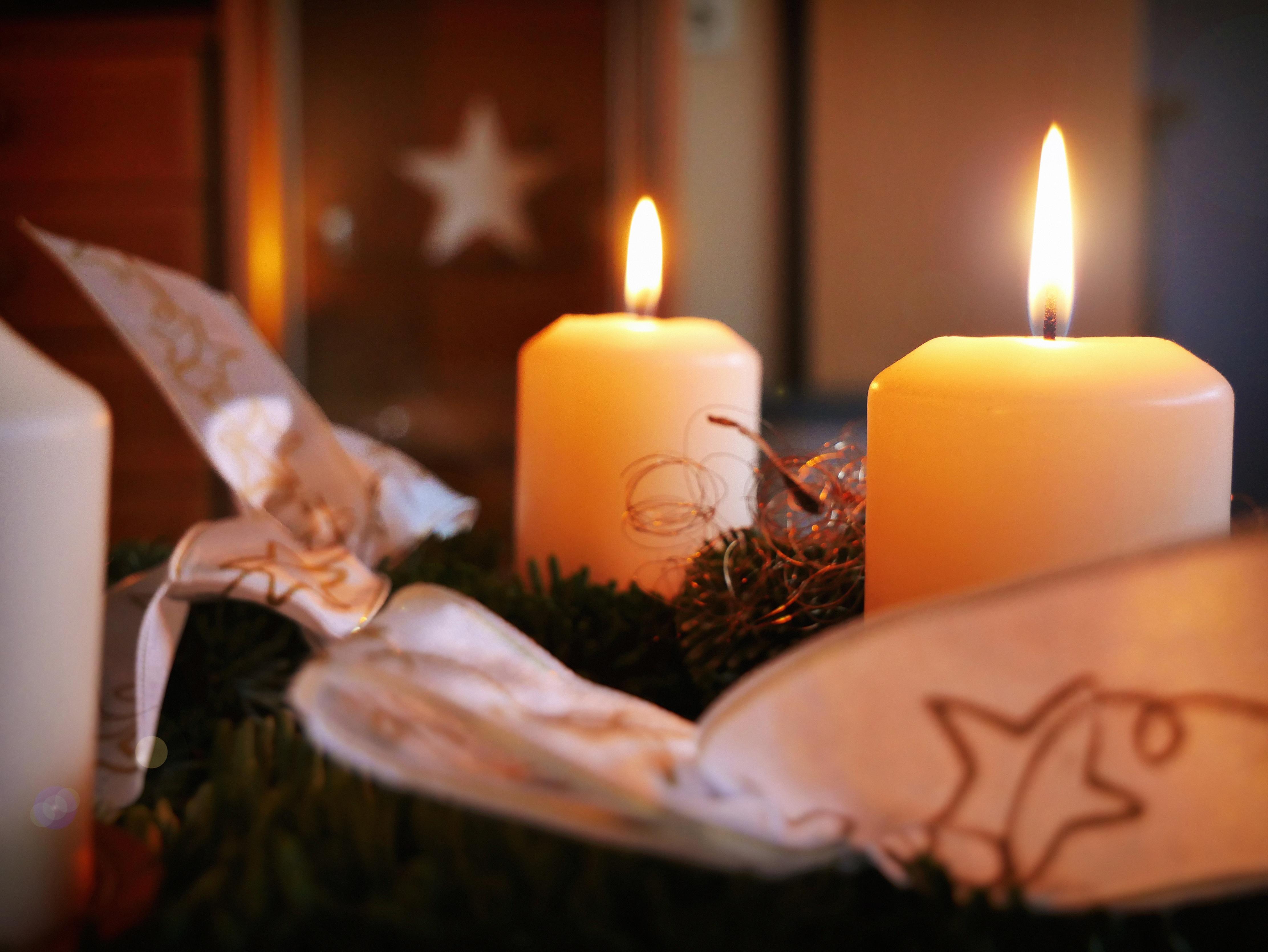 Decorare Candele Di Natale : Immagini belle natale illuminazione arredamento avvento