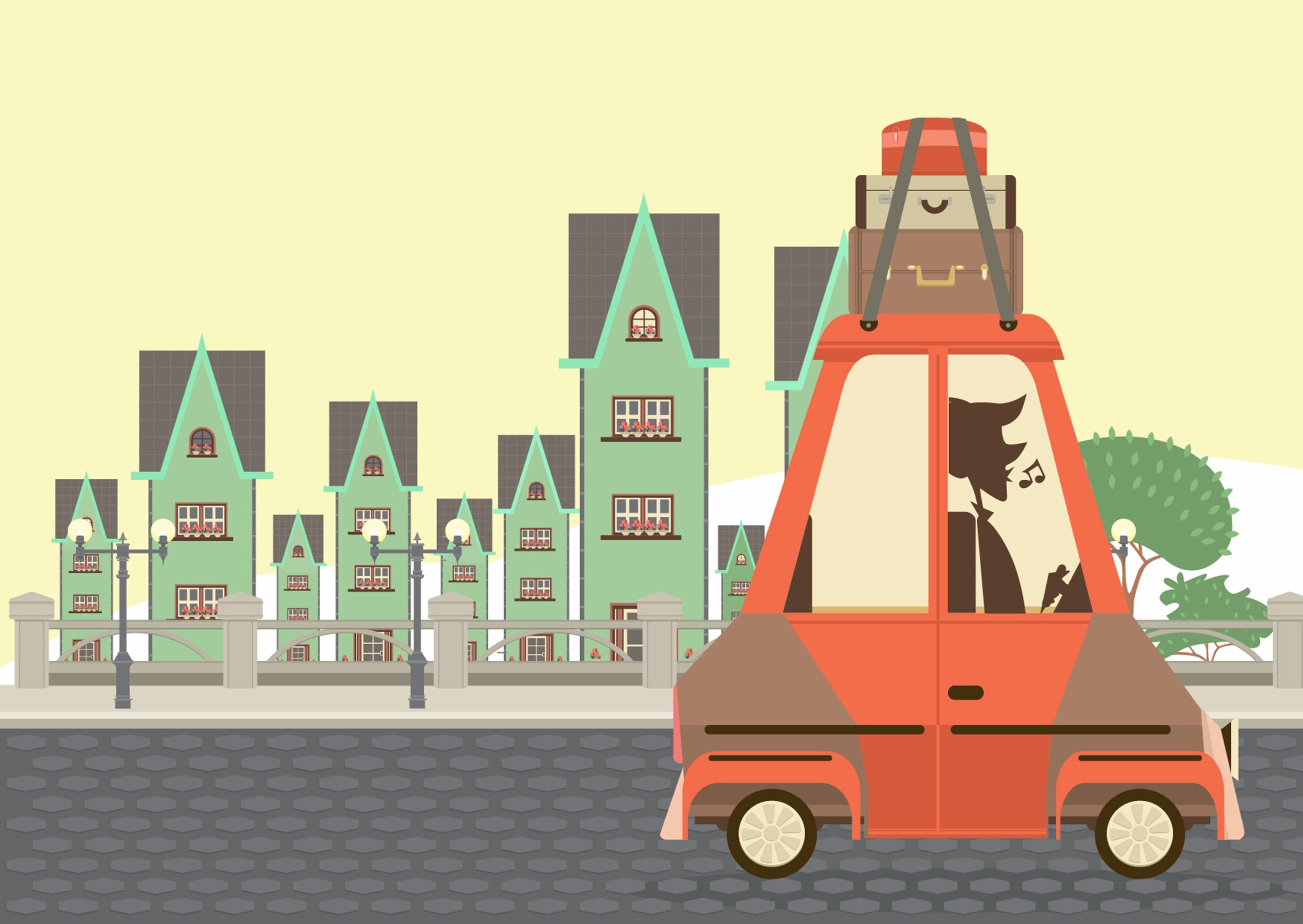 Gambar Mobil Kota Mainan Ilustrasi Gambar Kartun Screenshot