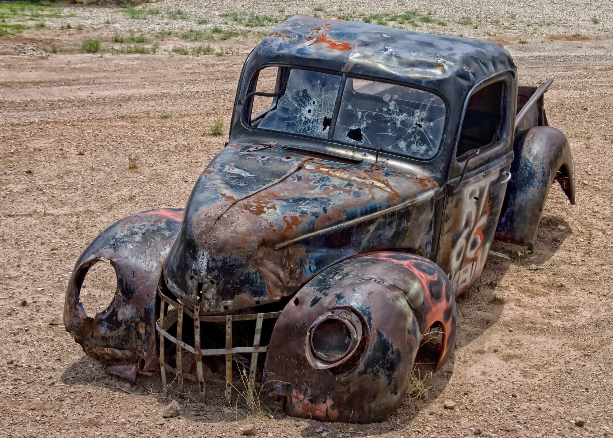 Free Images : desert, mud, junk, vintage car, arizona, hdr, heap ...