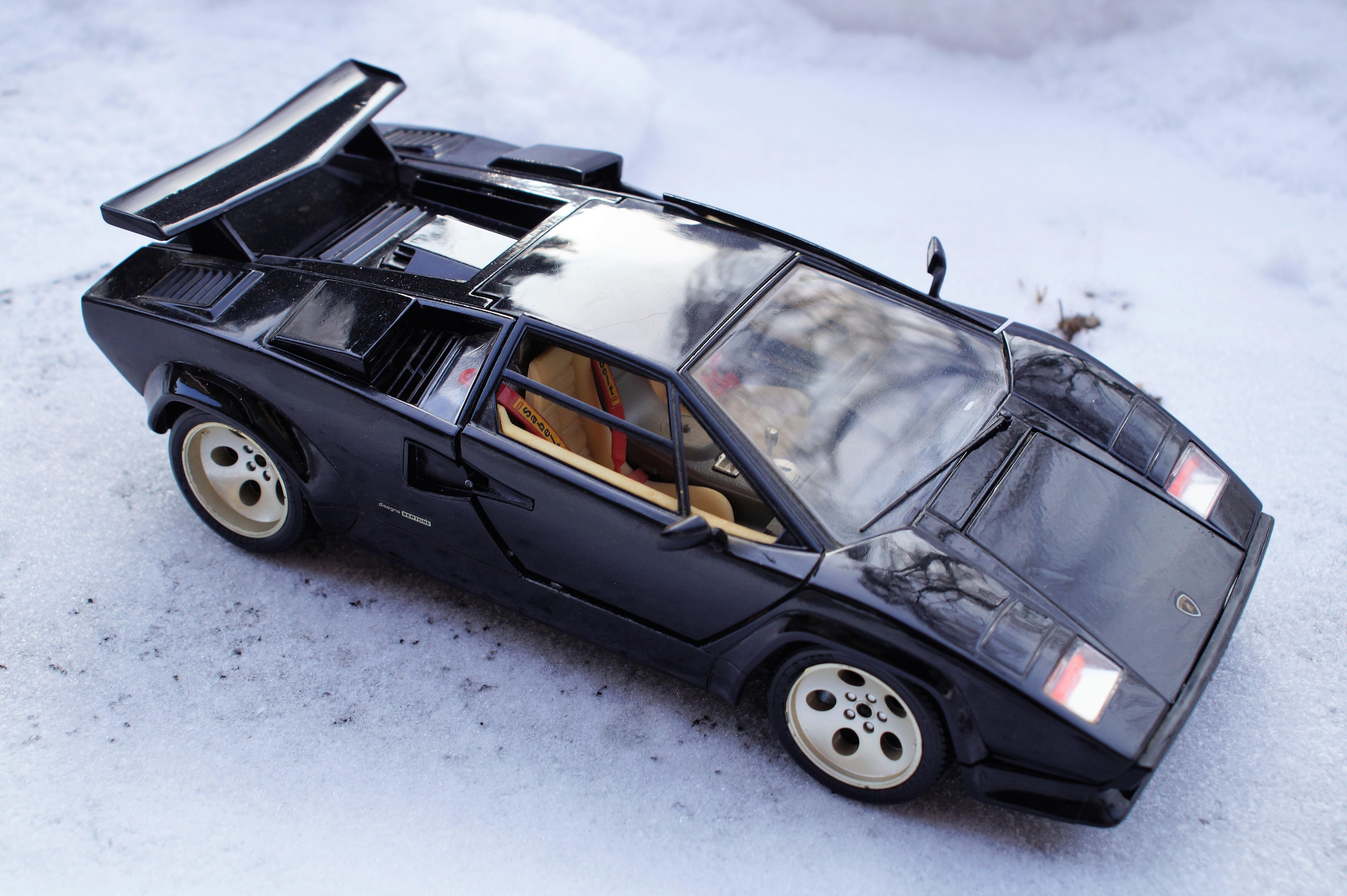 Car Model Vehicle Auto Black Toy Automotive Sports Car Race Car Supercar  Toys Oldtimer Lamborghini Vehicles