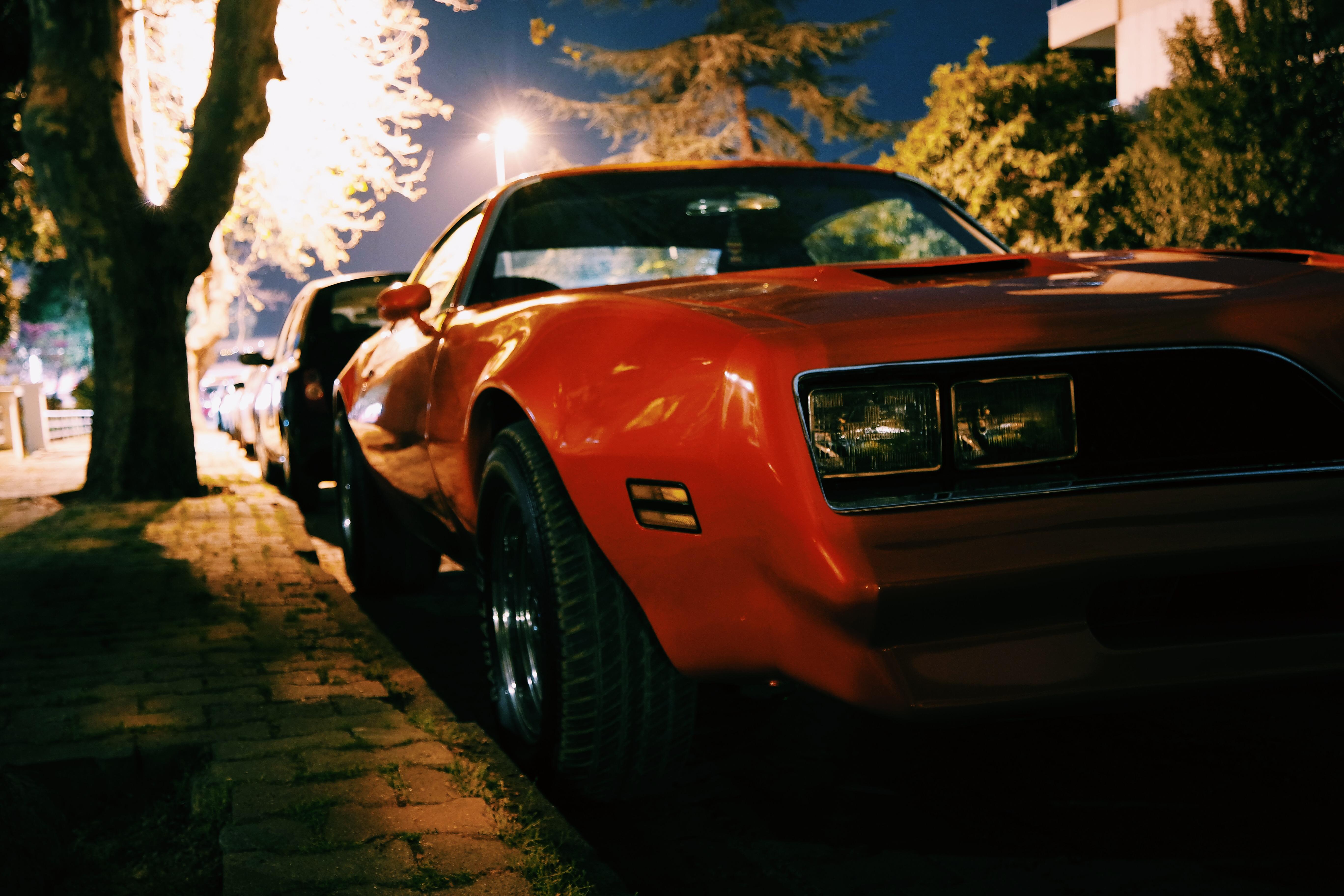 Free Images Sidewalk Sports Car Vintage Car Muscle Car Parked