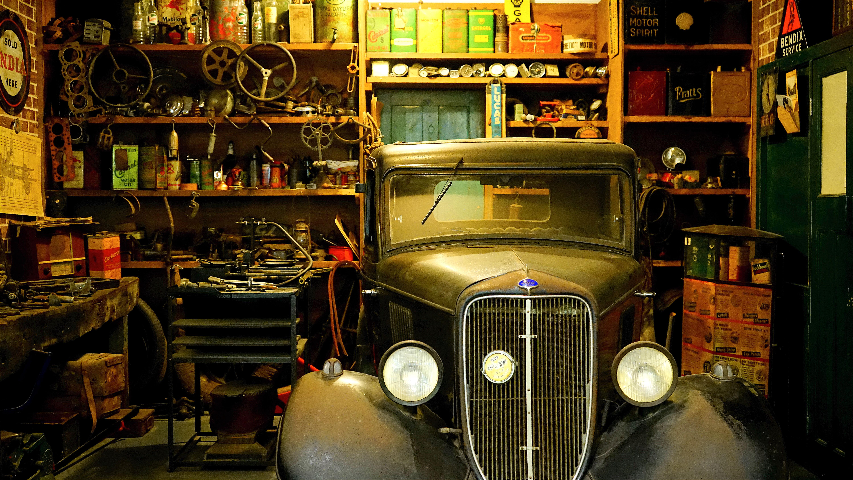 Préférence Images Gratuites : voiture, nuit, cru, Rétro, véhicule, garage  AS41