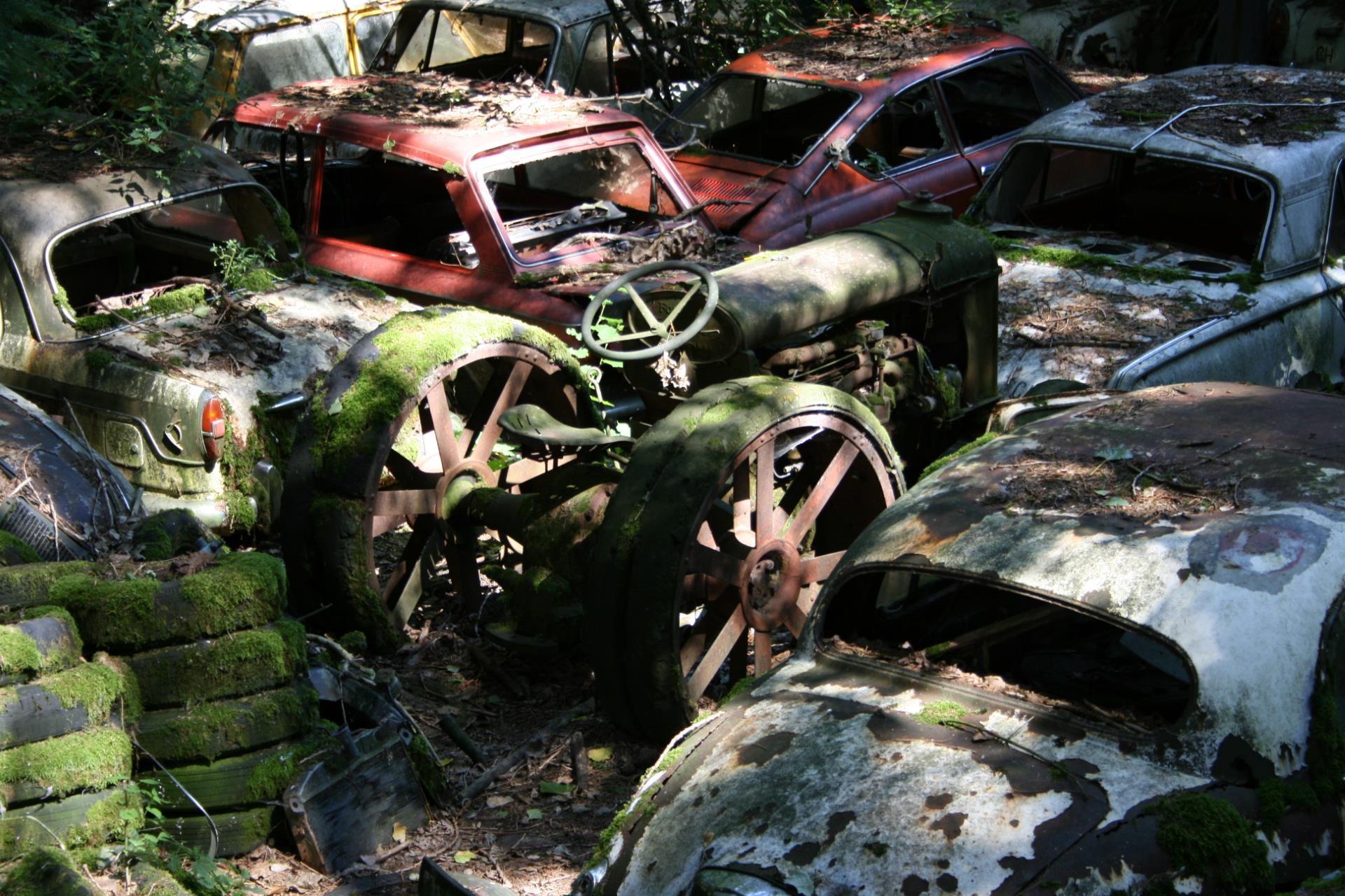 Fotoğraf Araba çevre Pas Araç Orman çamur Malzeme Eski