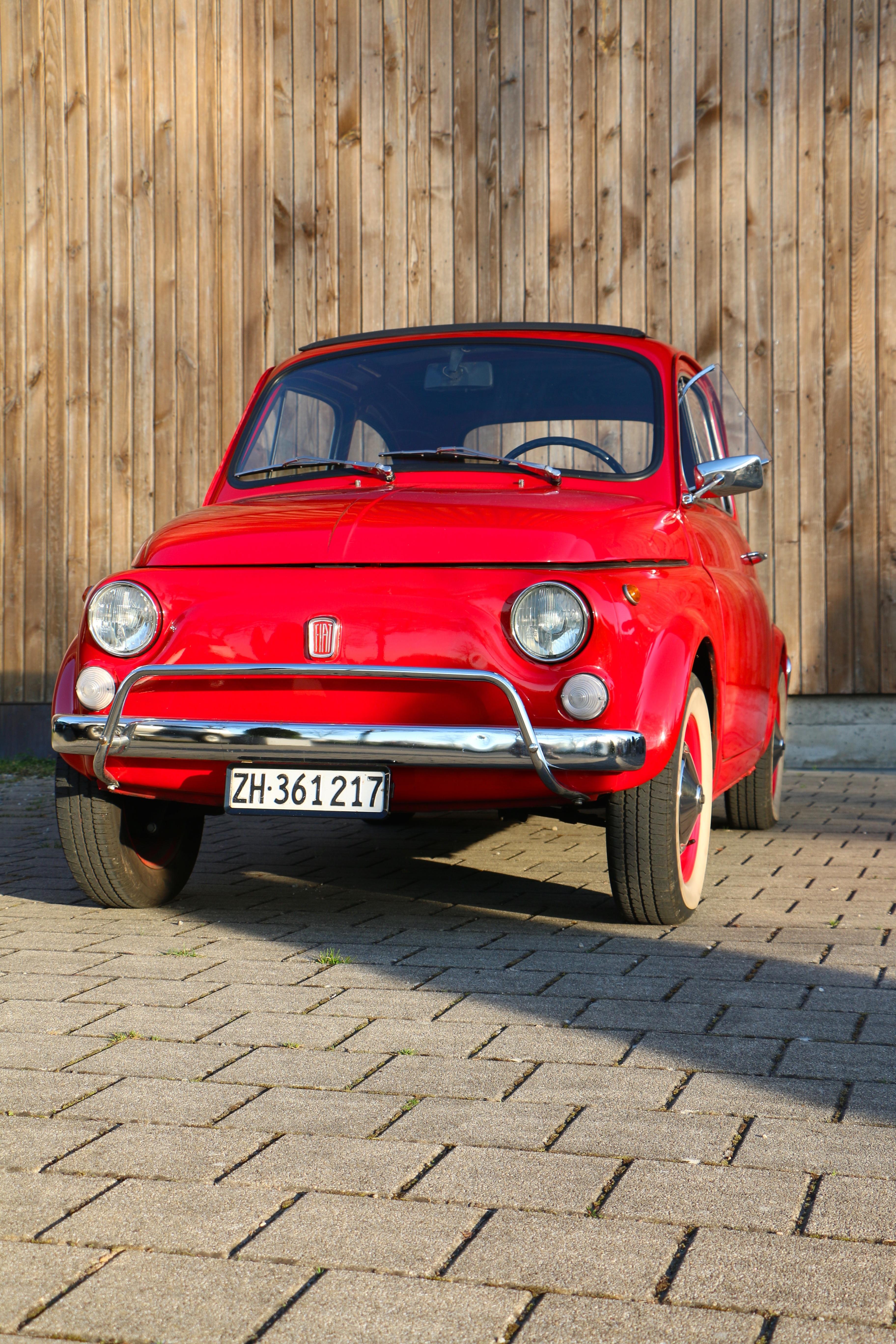 images gratuites rouge v hicule nostalgie voiture classique voiture ancienne fiat 500. Black Bedroom Furniture Sets. Home Design Ideas
