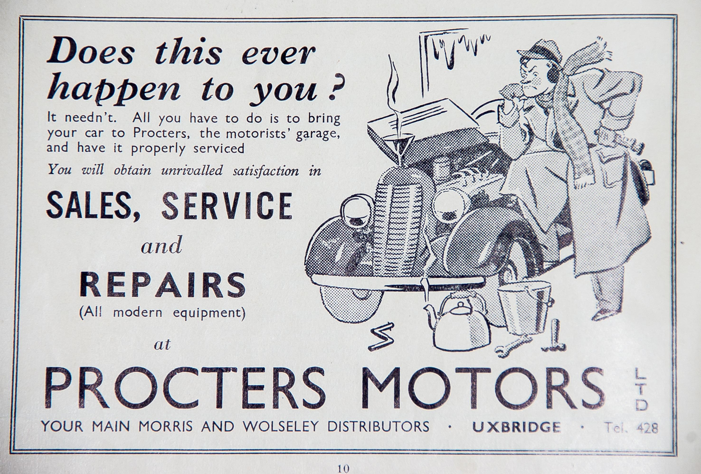 Gambar Mobil Retro Iklan Perbaikan Bersejarah Fon