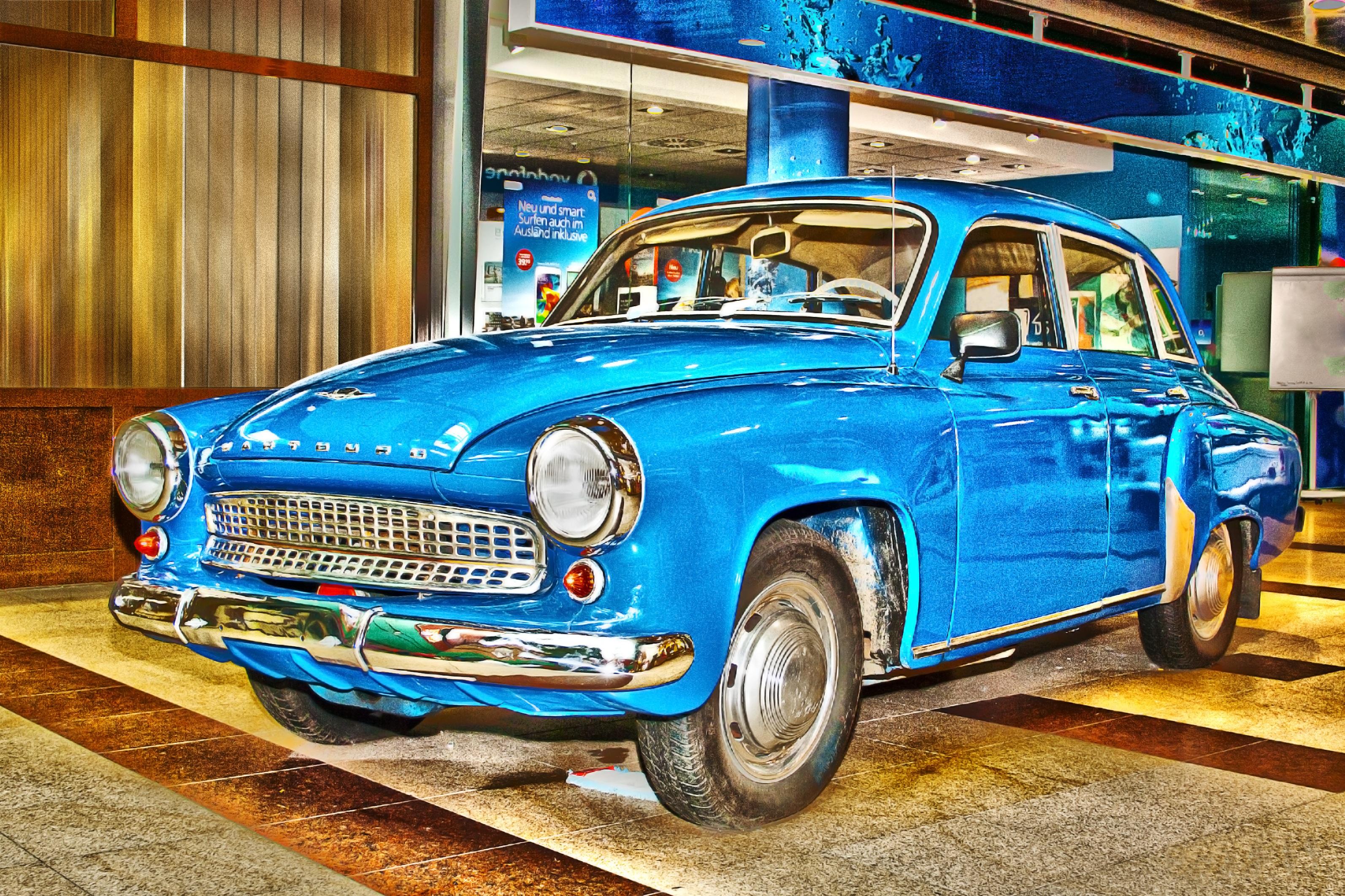 free images : retro, auto, blue, classic car, motor vehicle
