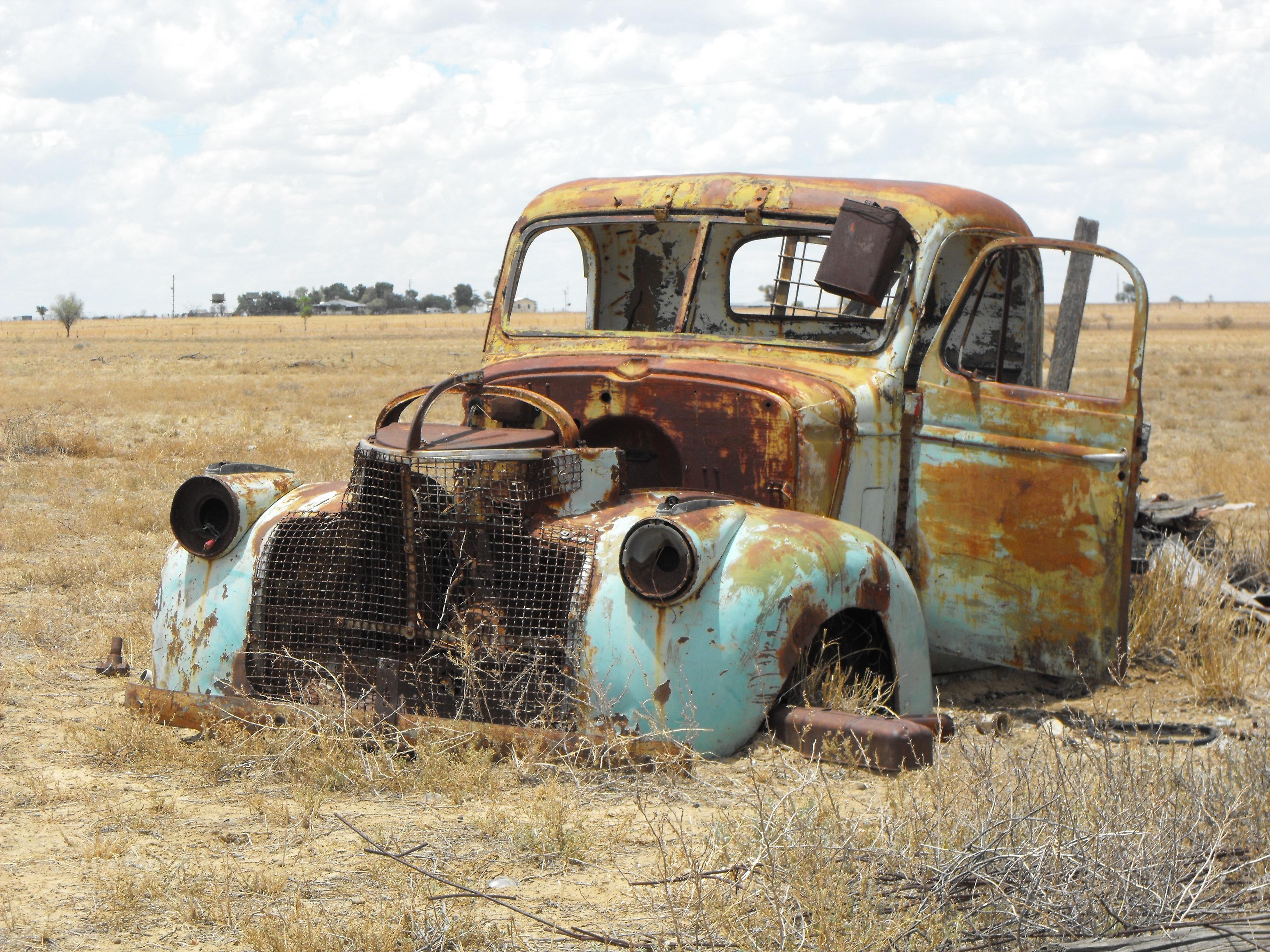 free images transport rust truck junk old car vintage car australia rusted wreck. Black Bedroom Furniture Sets. Home Design Ideas