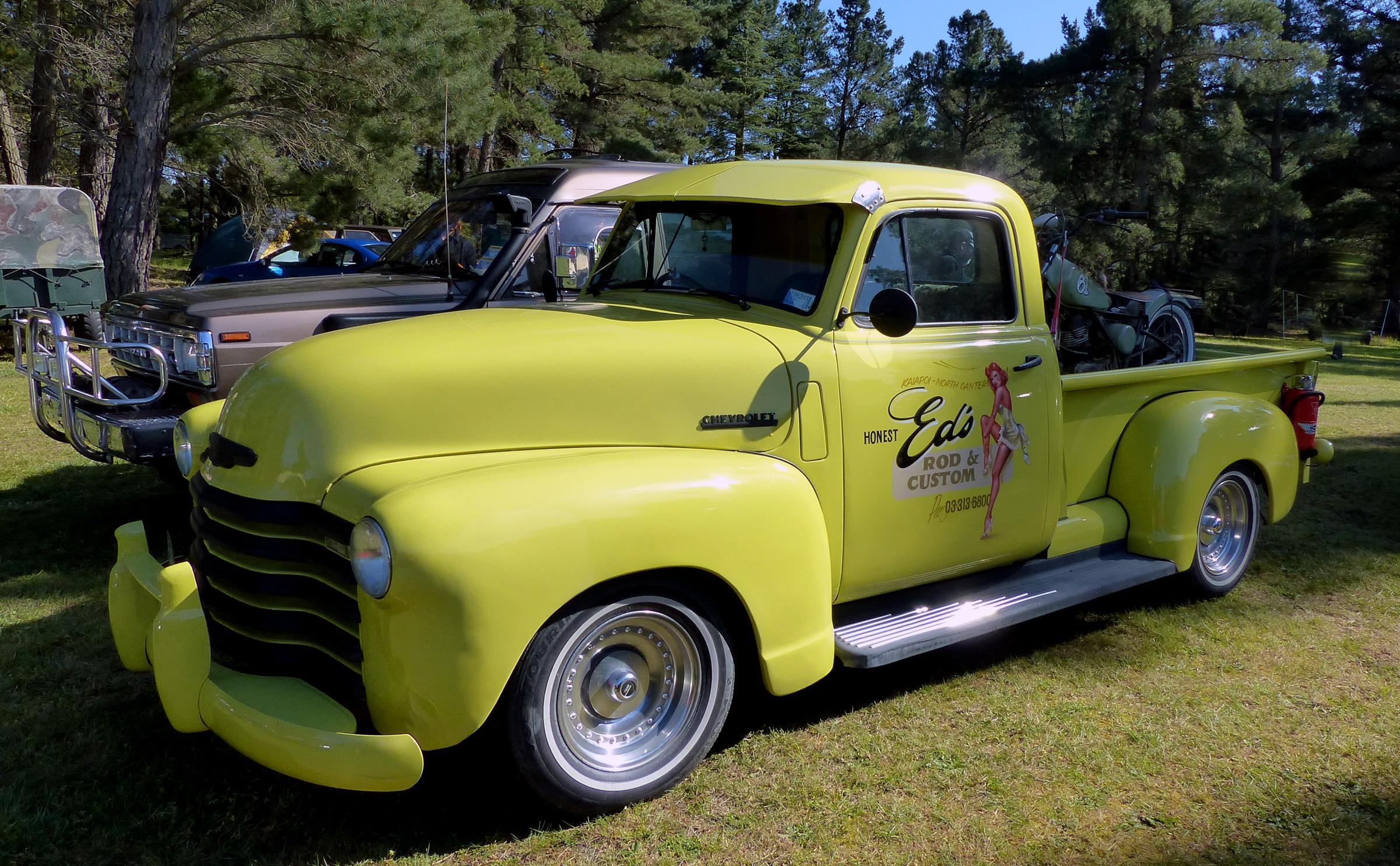 Free Images : motor vehicle, carshow, panasonicdmcfz200, yellowtruck ...
