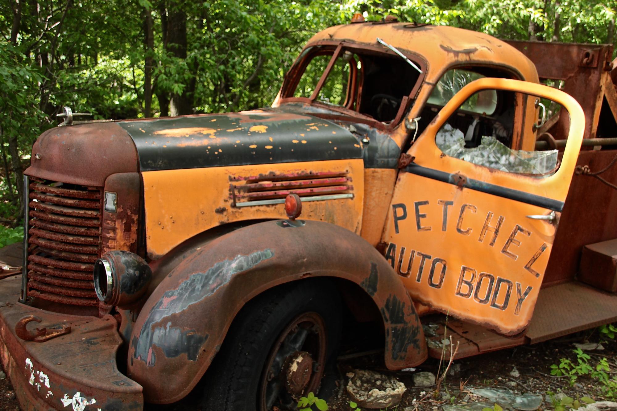 Free Images : truck, motor vehicle, vintage car, derelict, junkyard ...