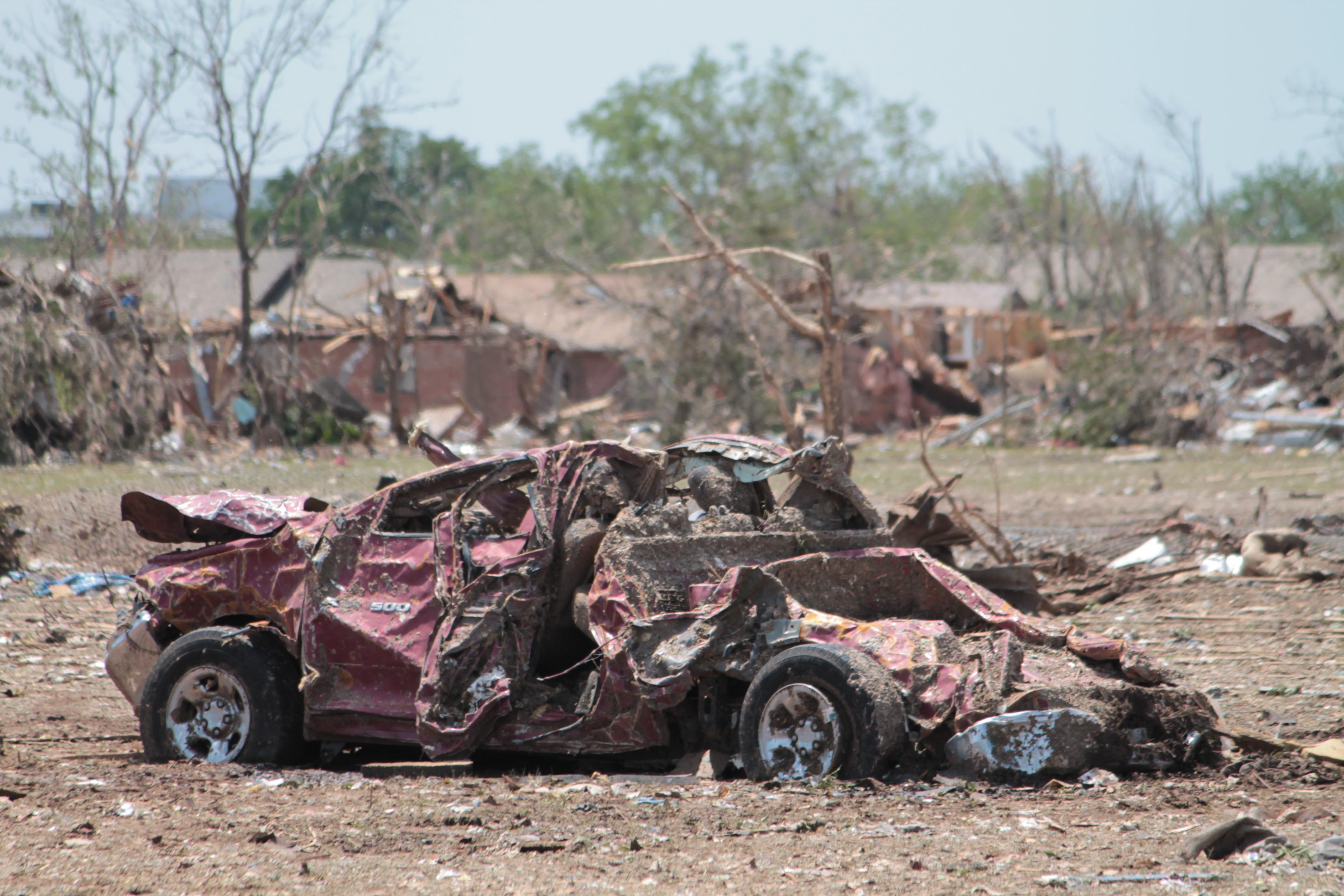 Car Truck Vehicle Mud Soil Ruin Material Destroyed Tornado Natural Disaster Destruction Oklahoma Damaged Moore