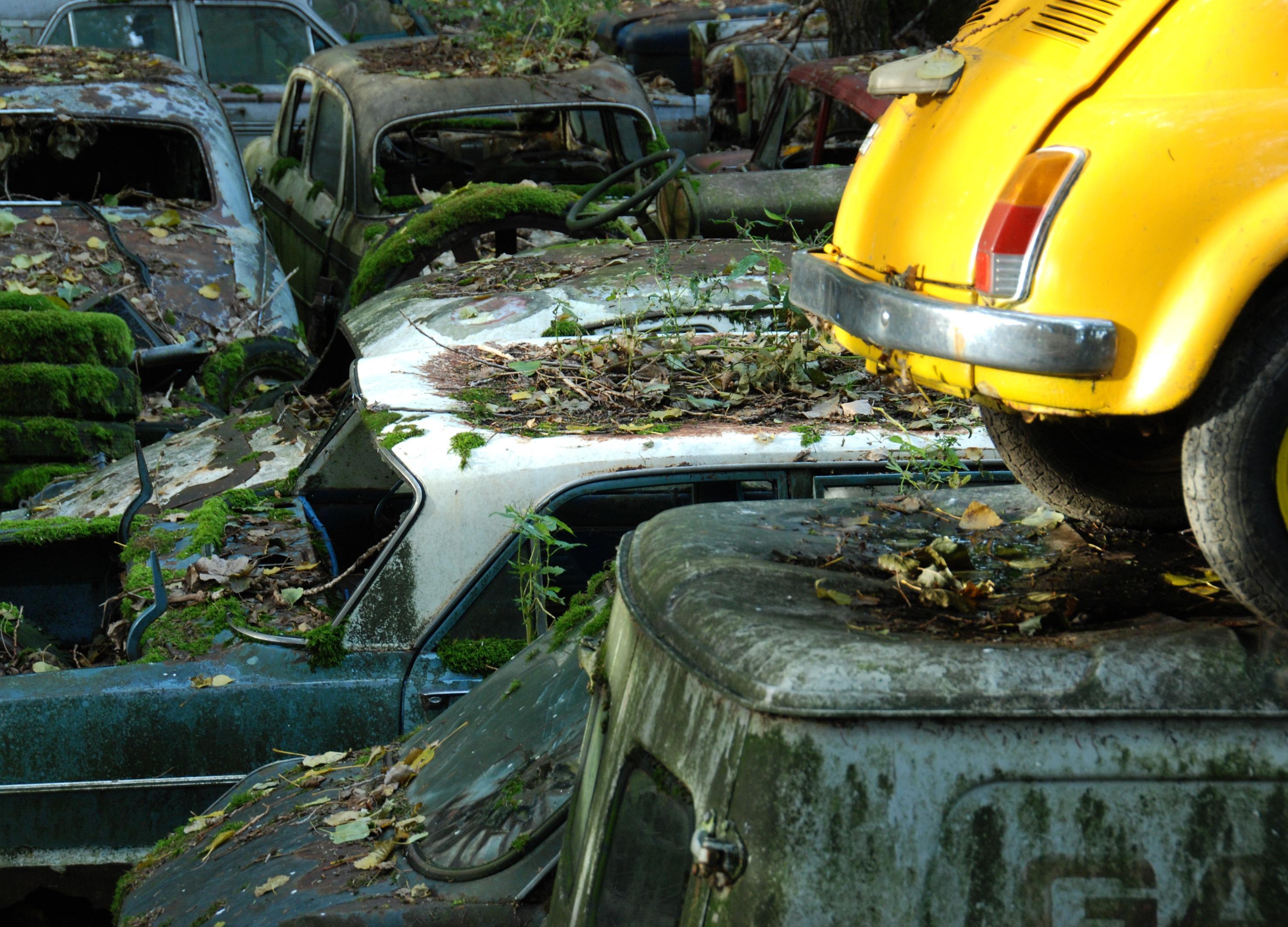 Fotoğraf Araba Araç Atılan Açık Karanlık Araba Mezarlığı Renk