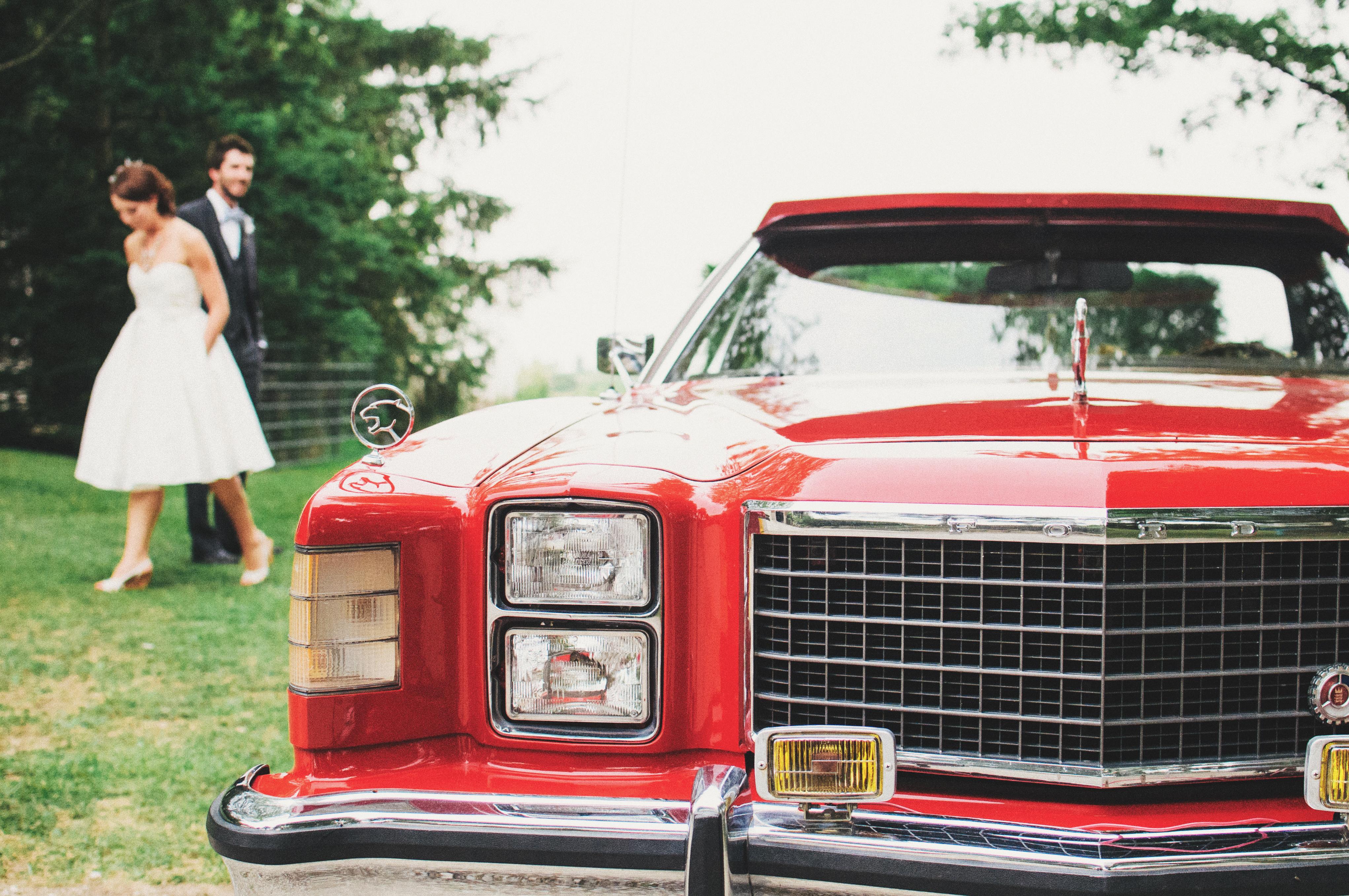 Free Images : retro, red, wedding, motor vehicle, vintage car, close ...