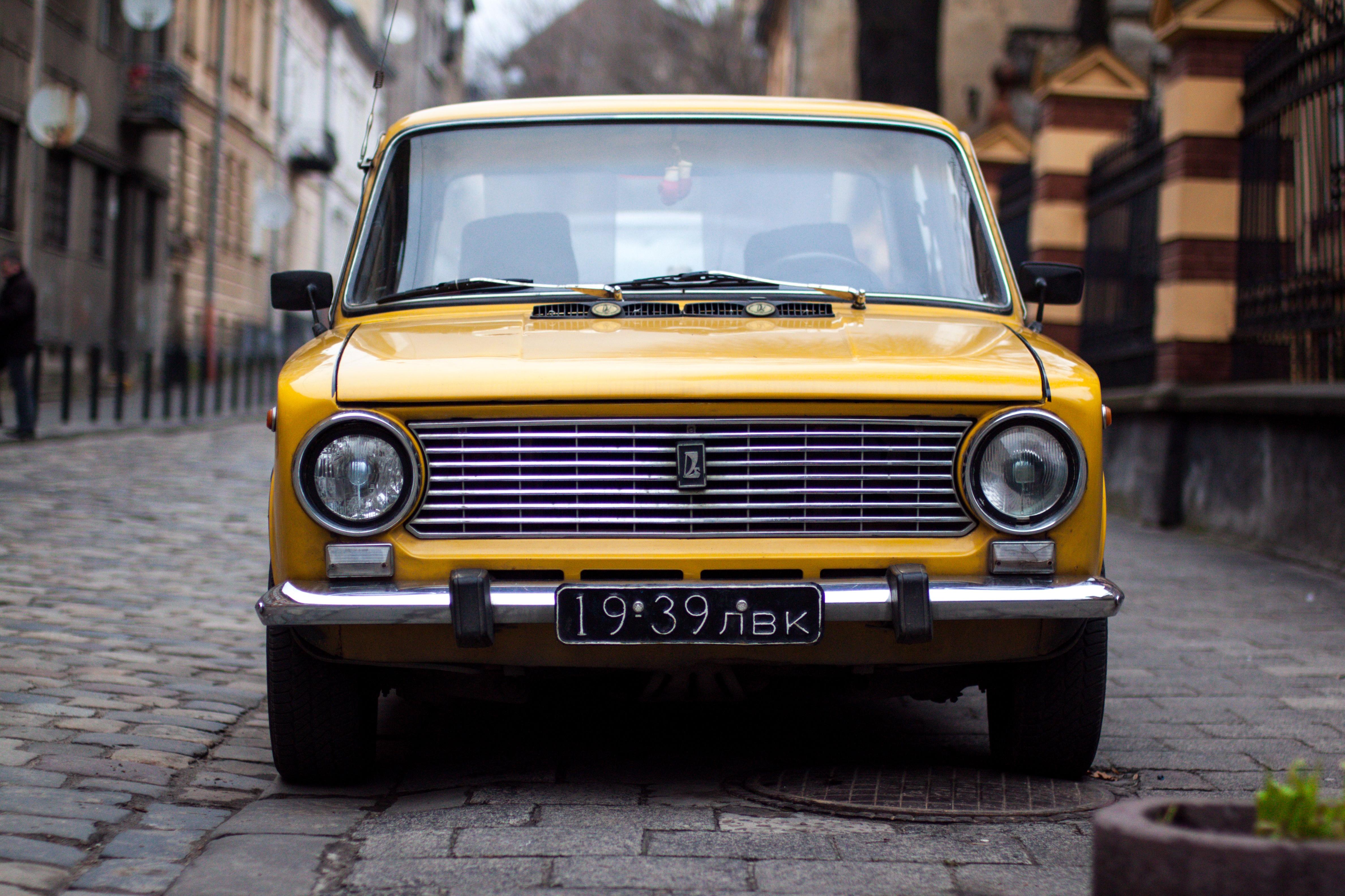 Free Images : vintage, yellow, old car, sedan, antique car, sport ...