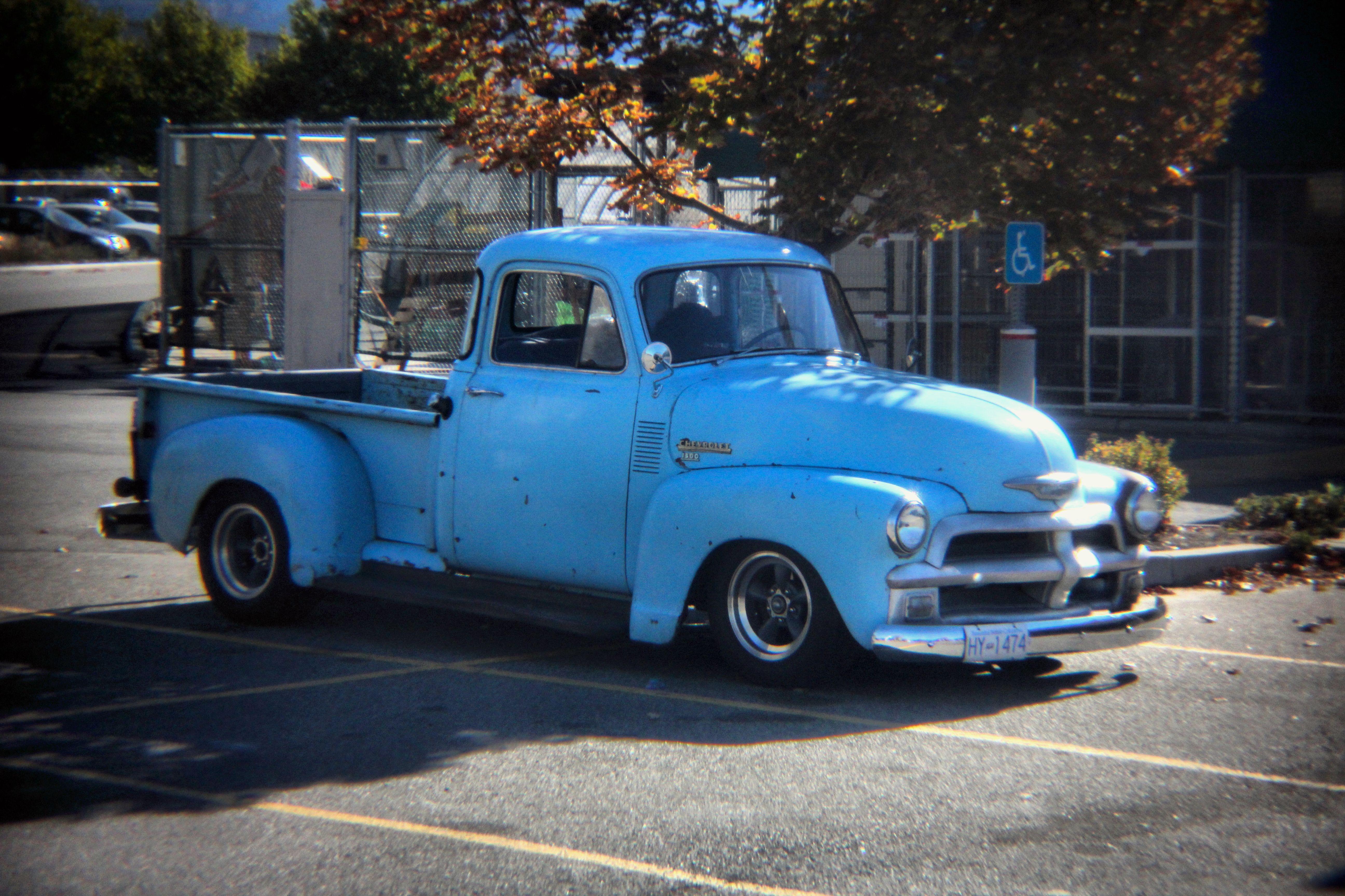 Free Images : vintage, old, blue, motor vehicle, bumper, holgalens ...