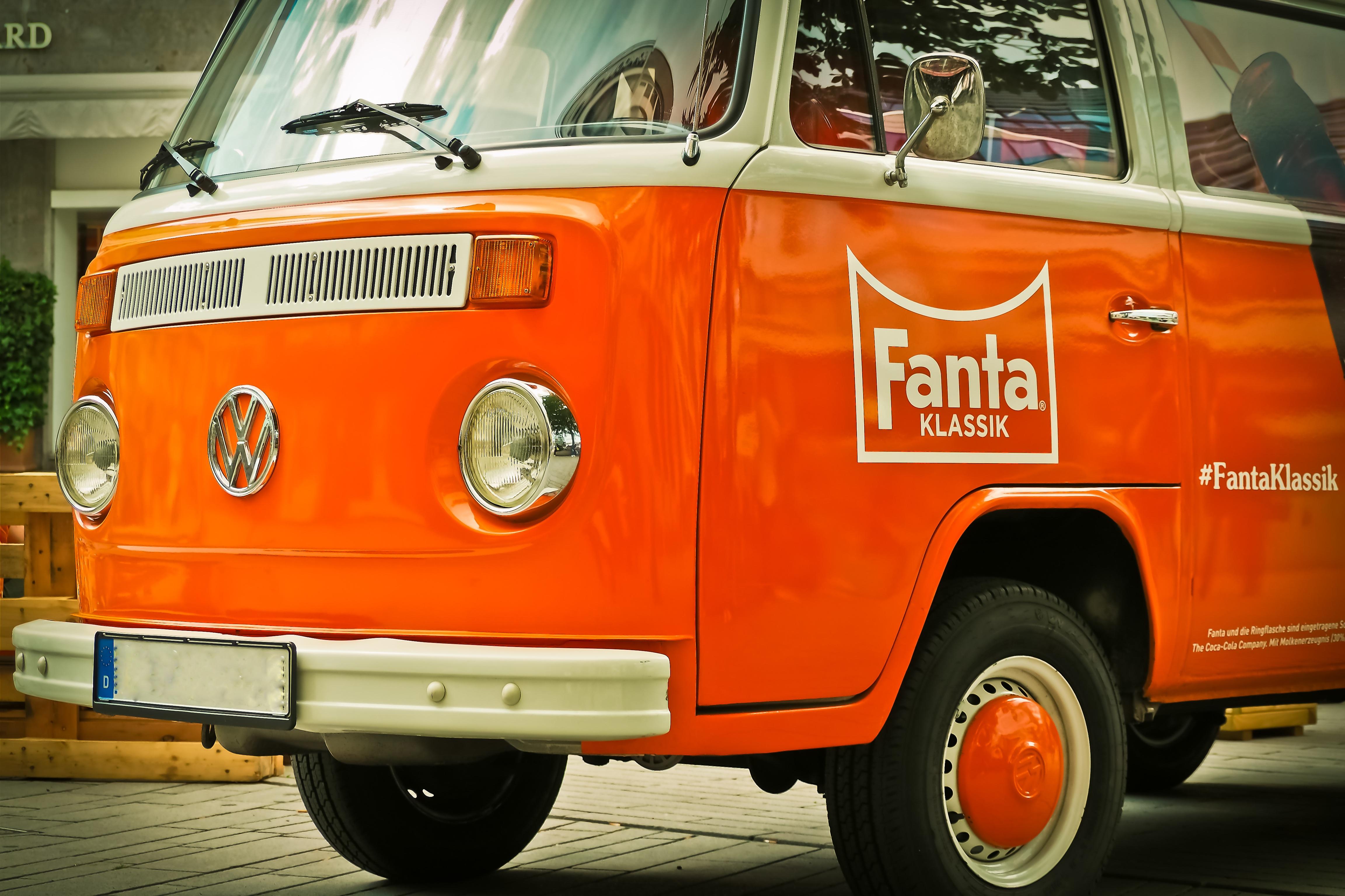 Free Images Vintage Retro Van Old Orange Auto Vw Bus