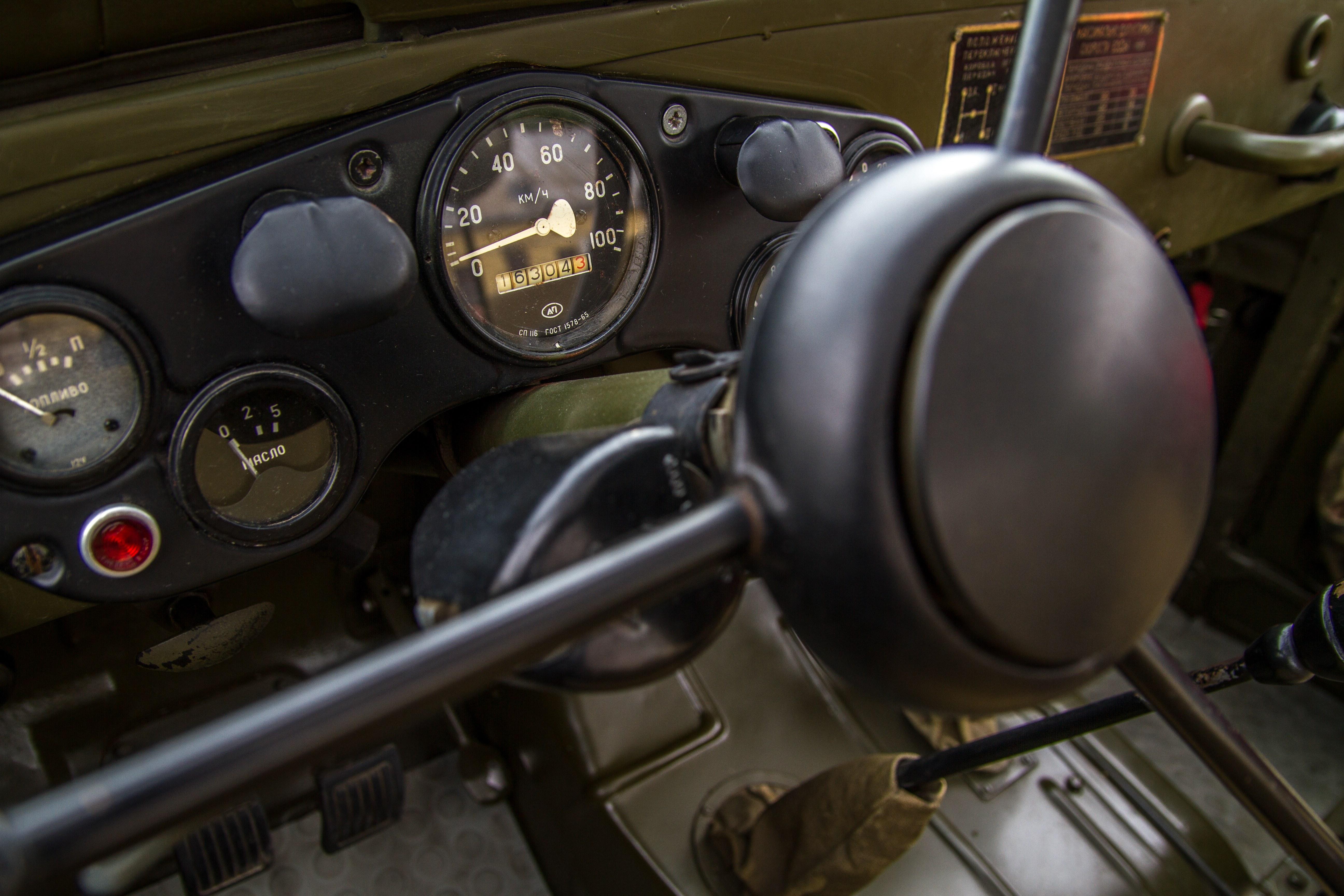 Kostenlose foto : Auto, Jahrgang, Rad, Innere, alt, Jeep, Militär ...