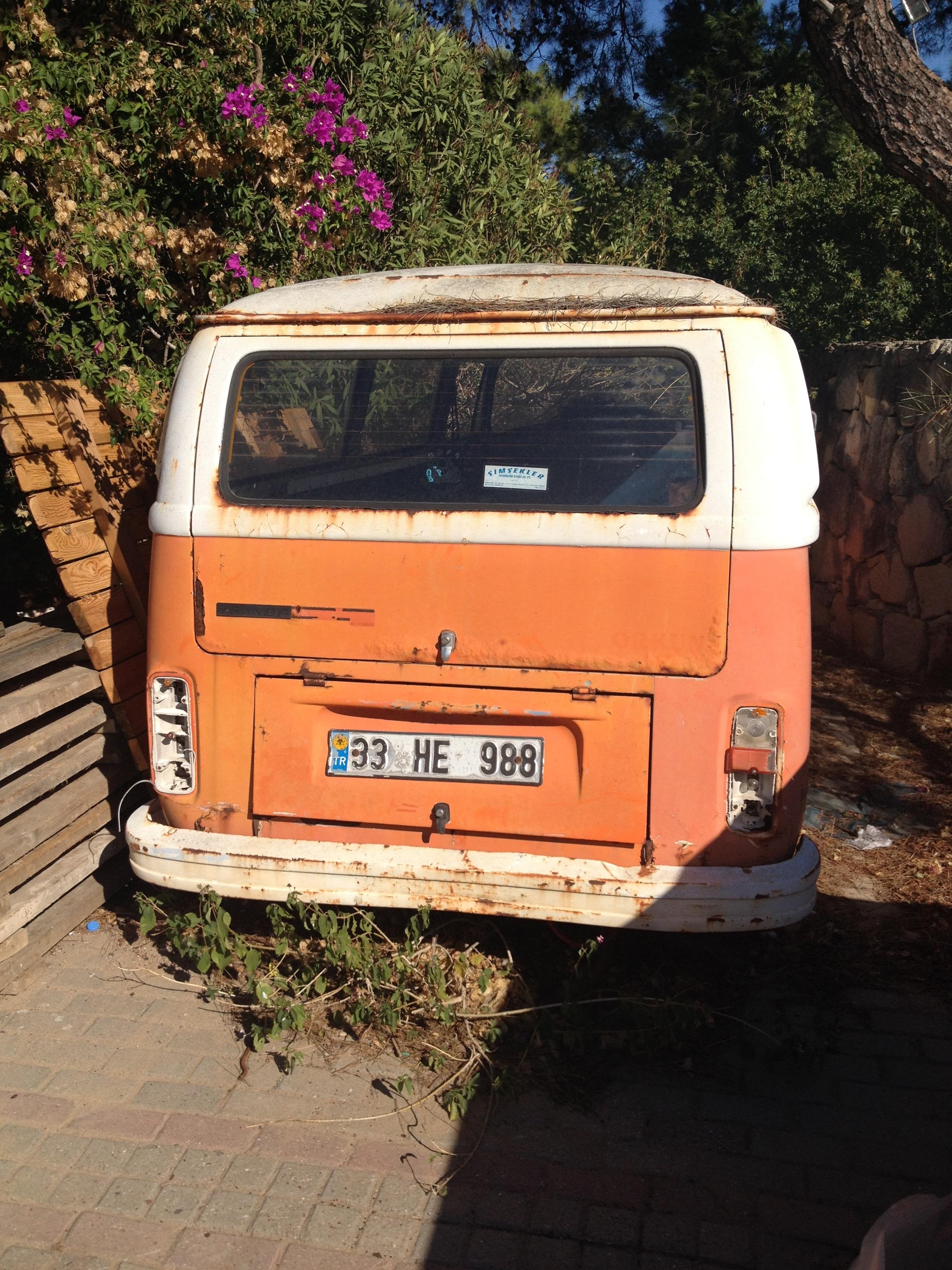 Fotoğraf Volkswagen Kamyonet Eski Nakliye Portakal Kamyon