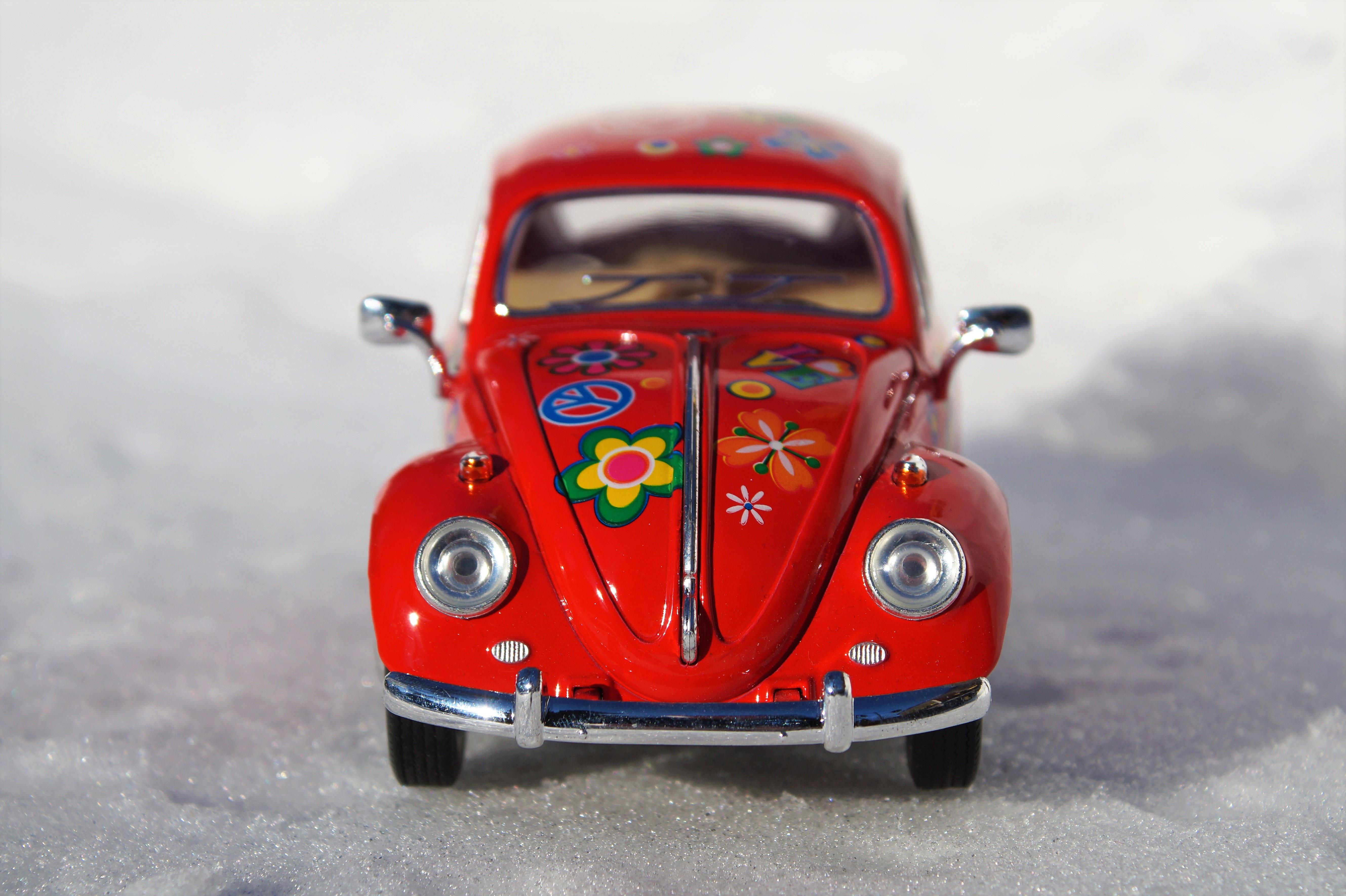 Free Images : vw, old, red, auto, vintage car, oldtimer, dare ...