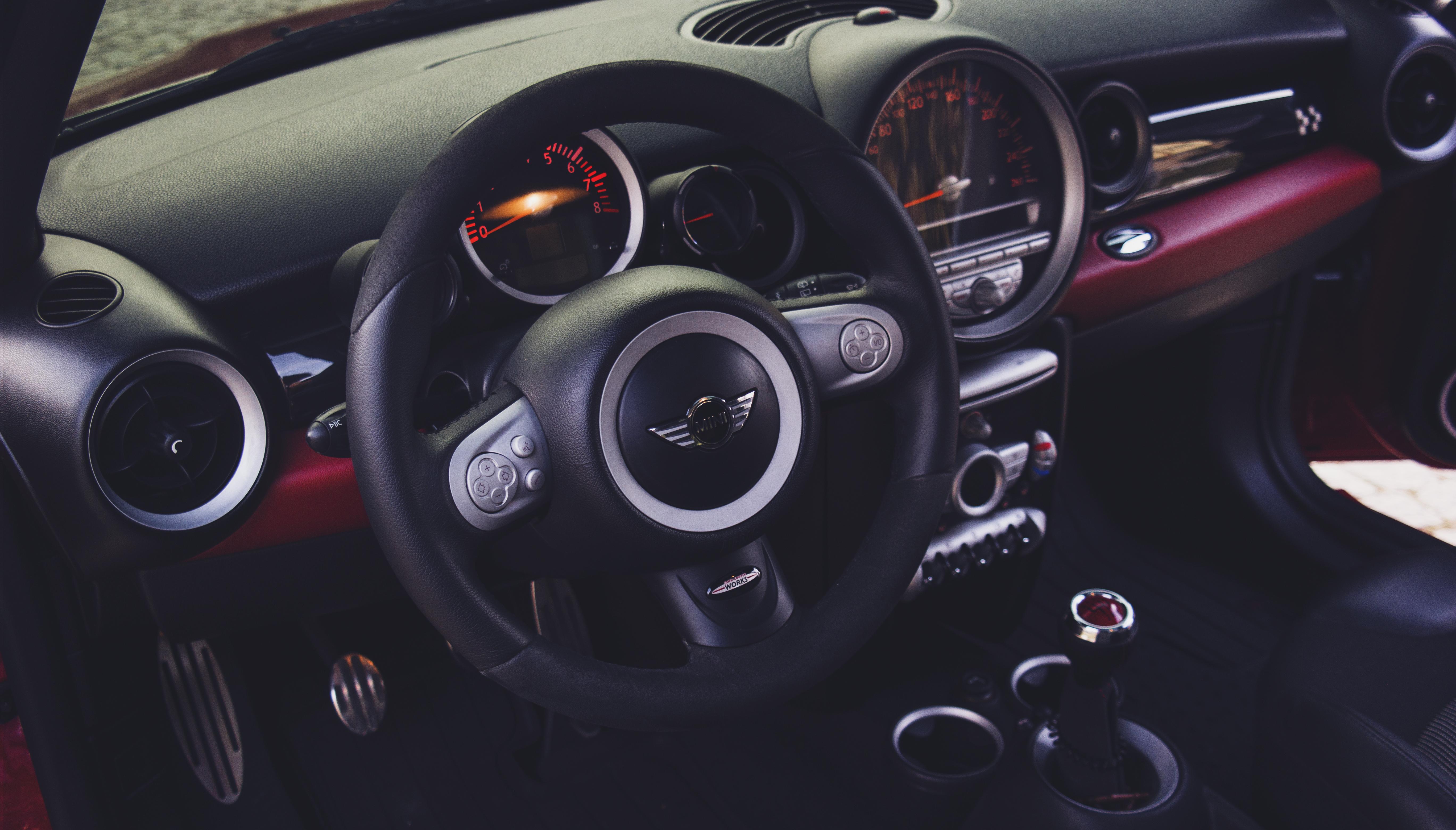 Free Images Steering Wheel Dashboard Speedometer Odometer Car