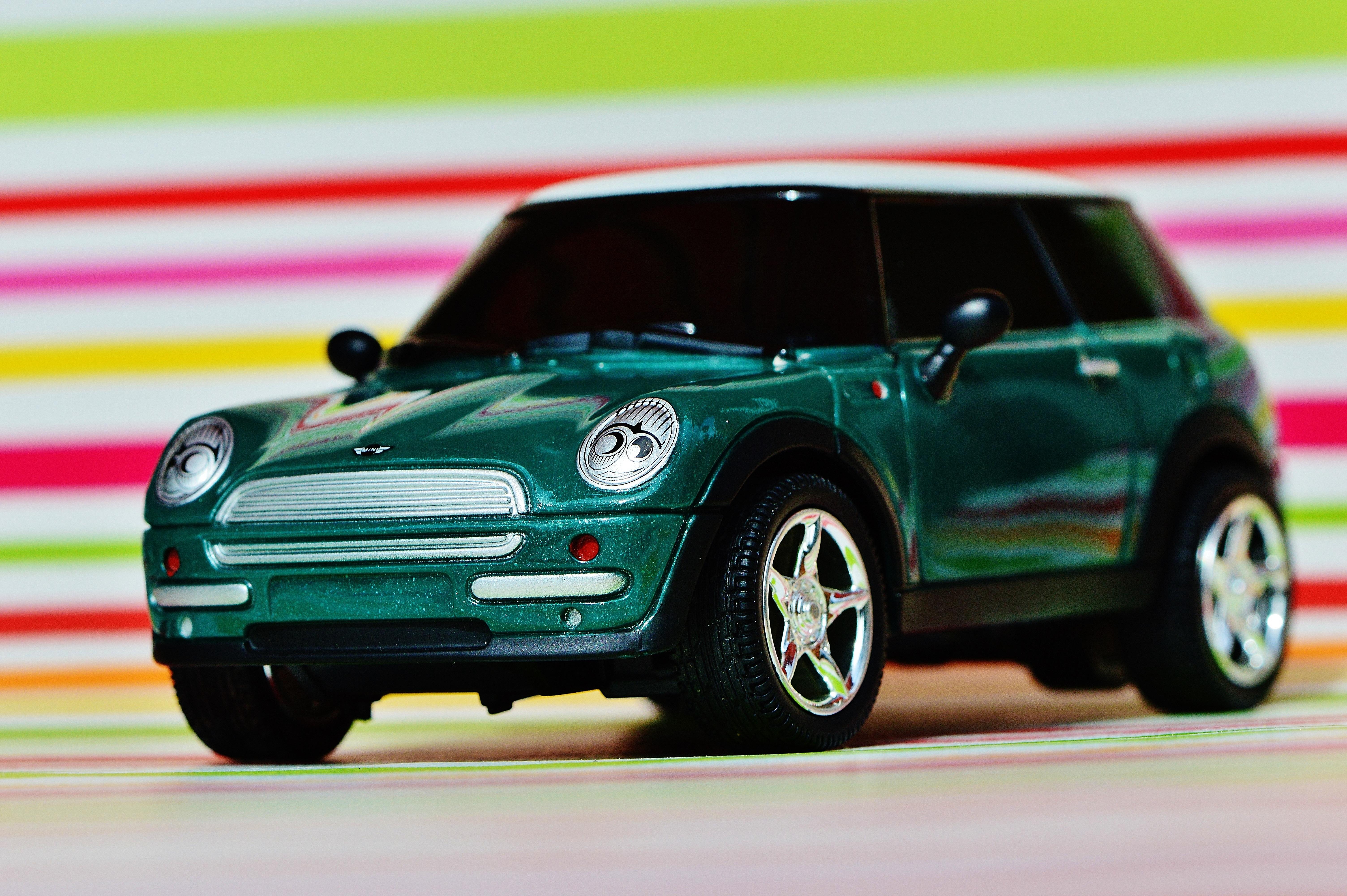 Car Wheel Model Green Vehicle Auto Motor Mini Cooper City Land
