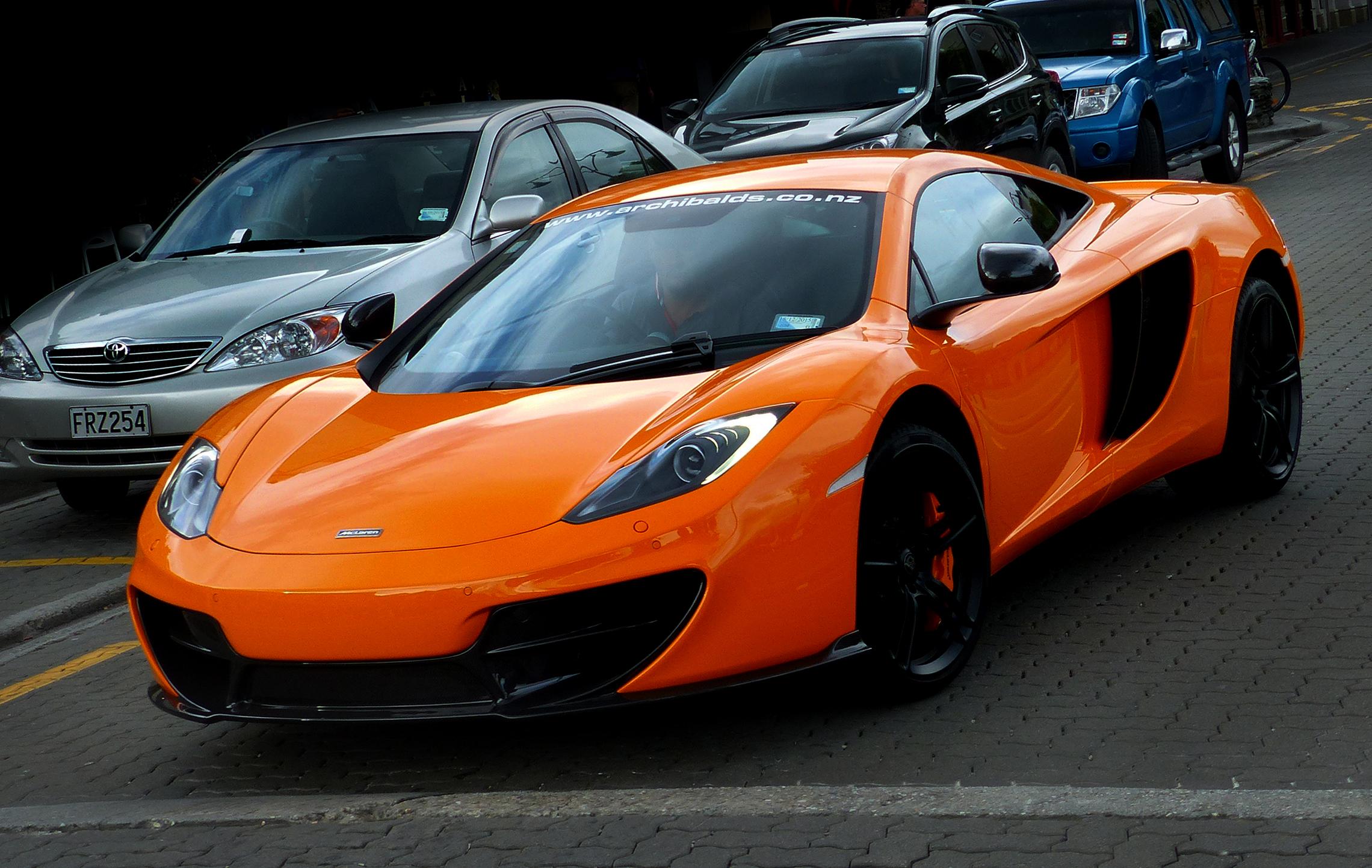 Free wheel orange sports car supercar lumixfz200