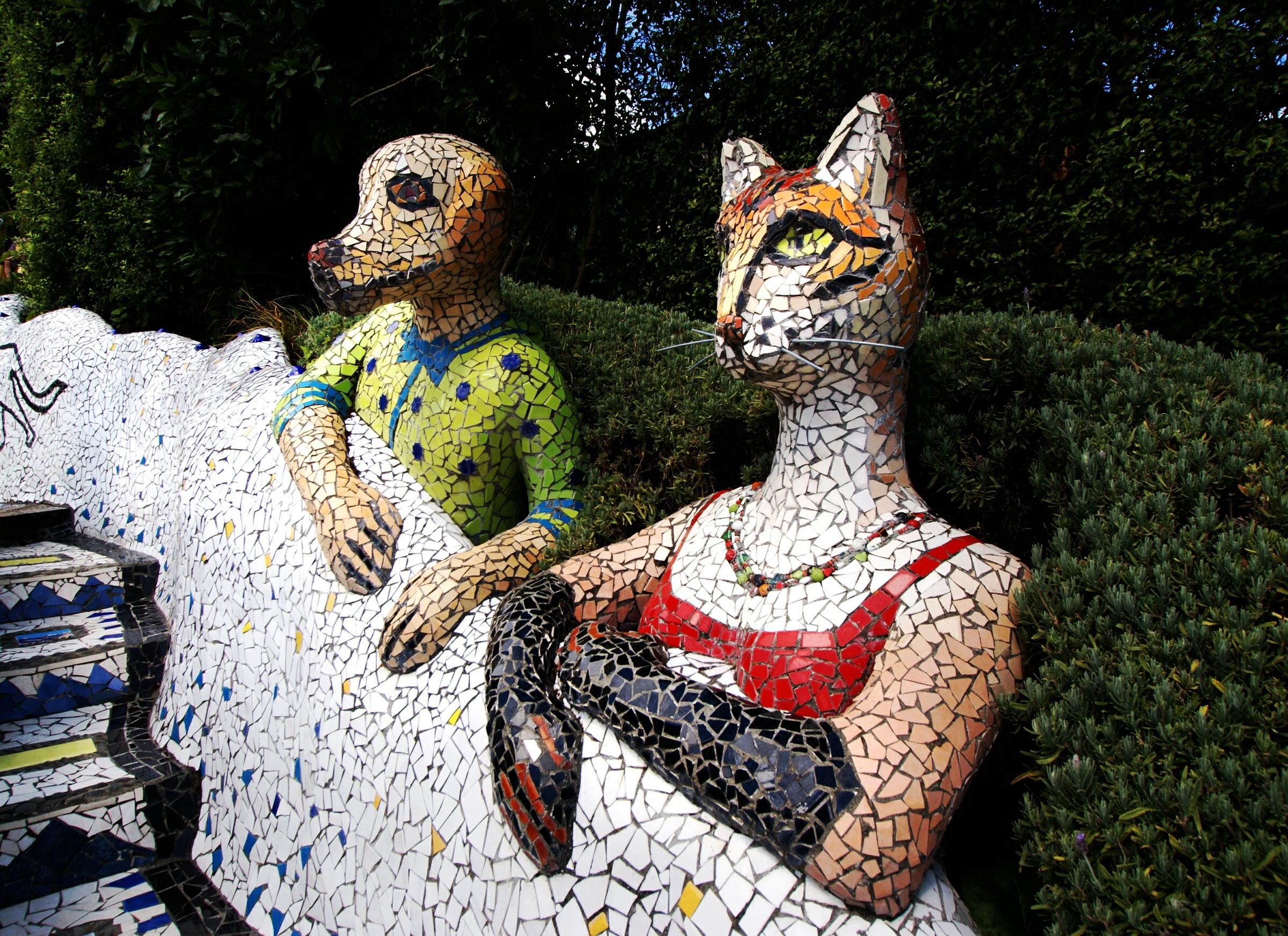 piggyandcat garden pig statue sleeping product outdoor narspi cat