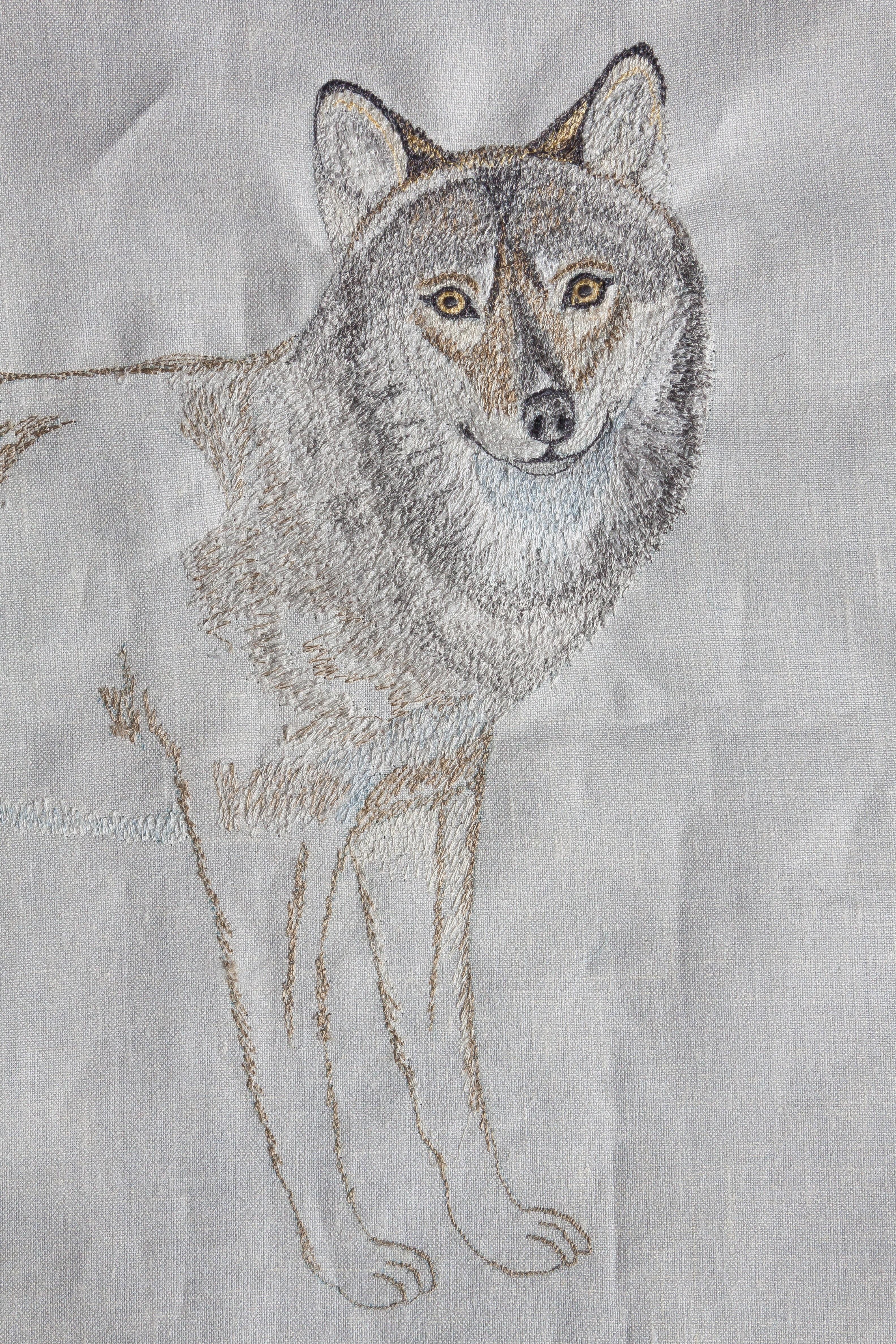 Gambar Serigala Lukisan Mesin Jahit Sketsa Gambar Desain