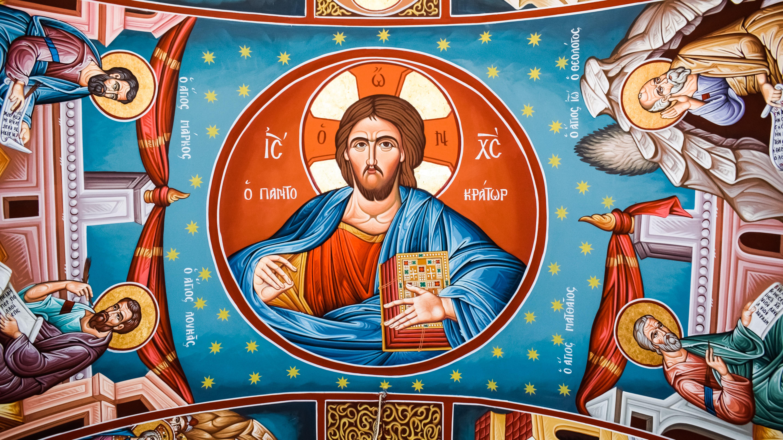 Gambar Plafon Kapel Ilustrasi Ikonografi Lukisan Dinding
