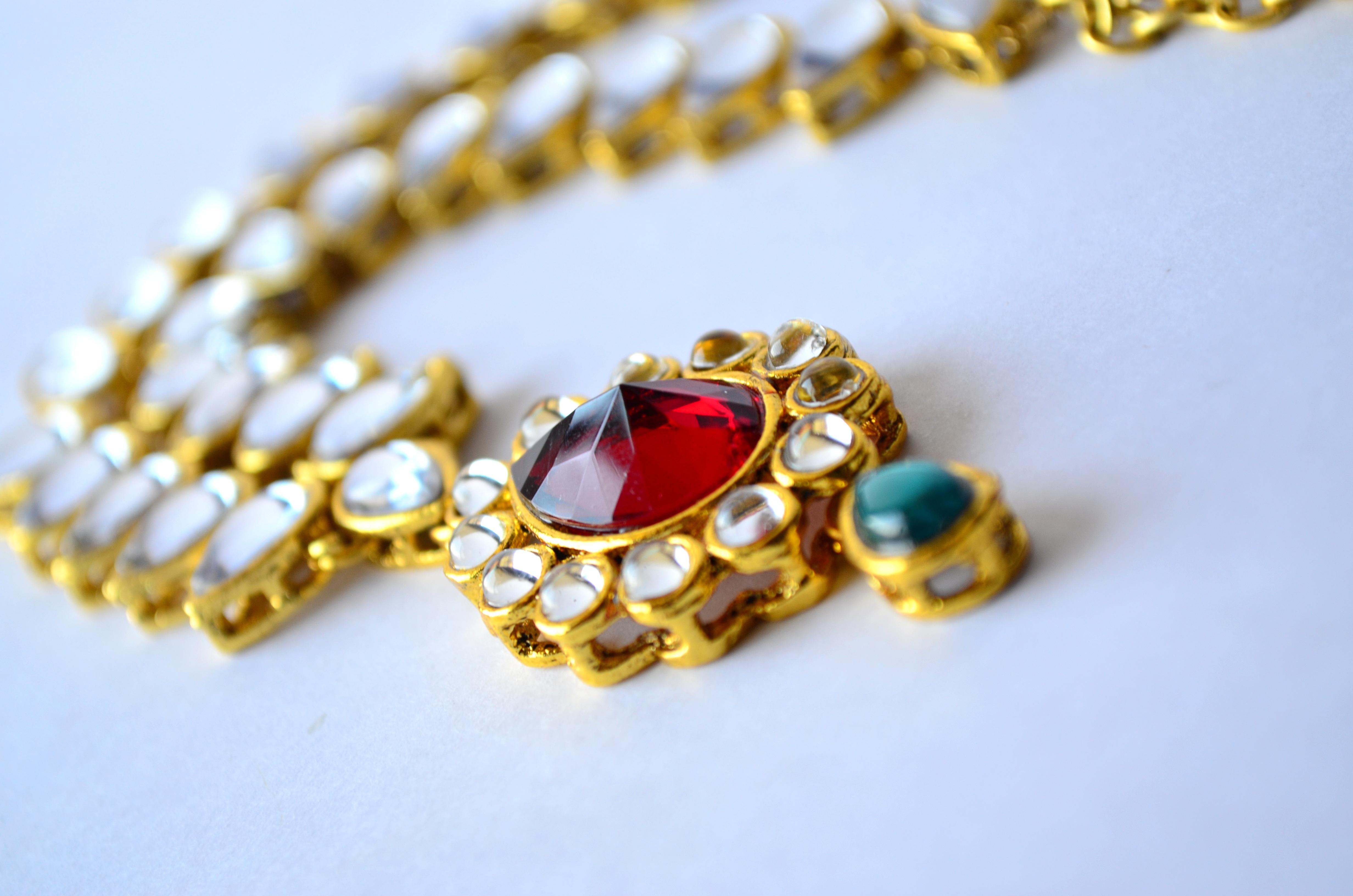 řetěz zlatý móda žlutý korálek šperky náhrdelník náramek šperky luxus zlato  stříbrný krása drahý elegance poklad ab96b9cec2d