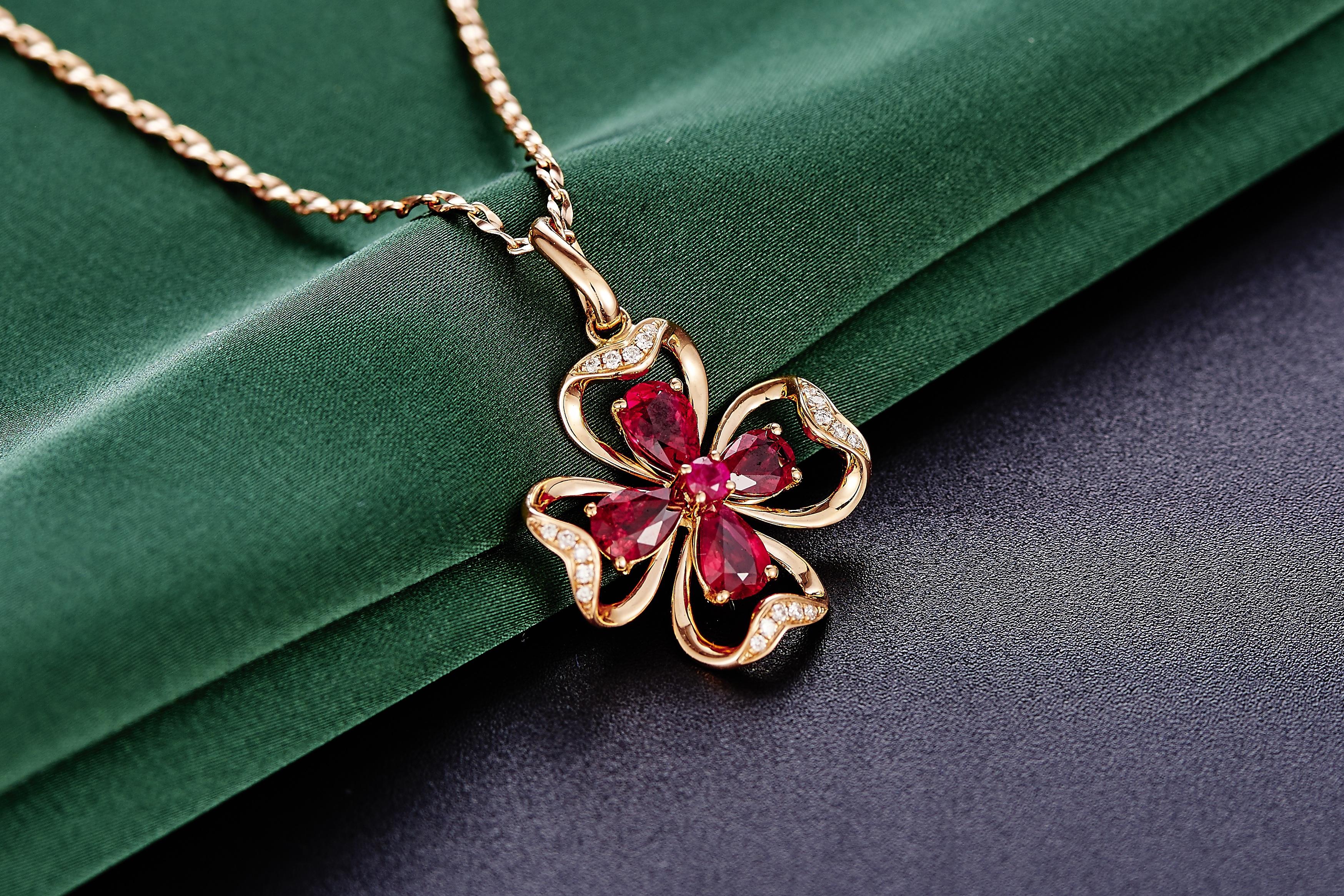 e1bd998c4d60 cadena verde joyería collar joyería rubí piedra preciosa colgante Accesorio  de moda