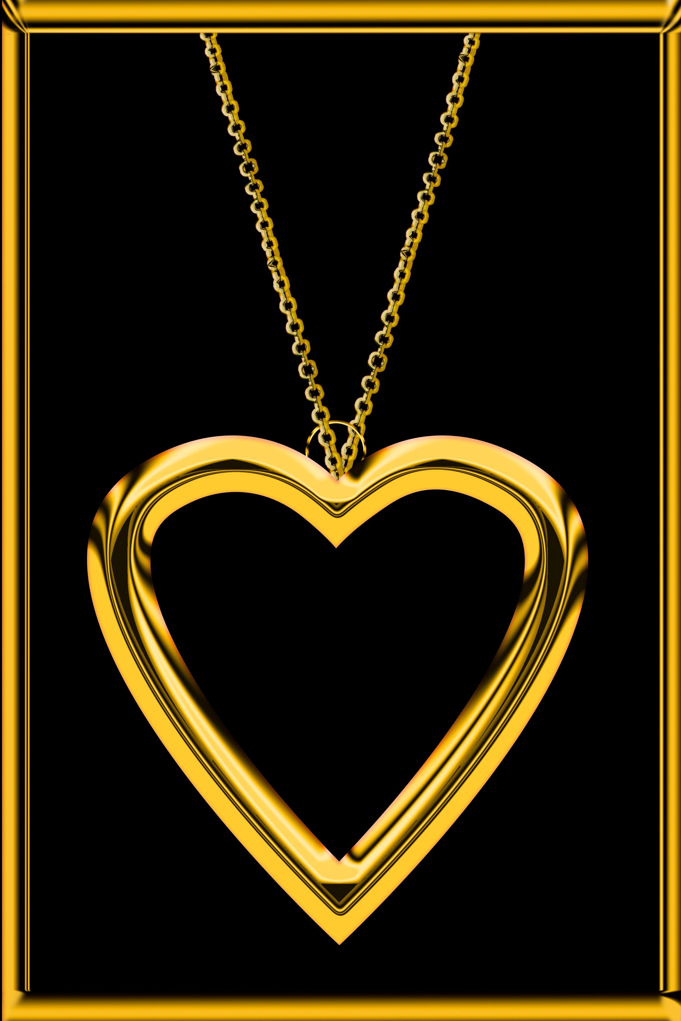 images gratuites : amour, cœur, cadeau, d'or, symbole, romance