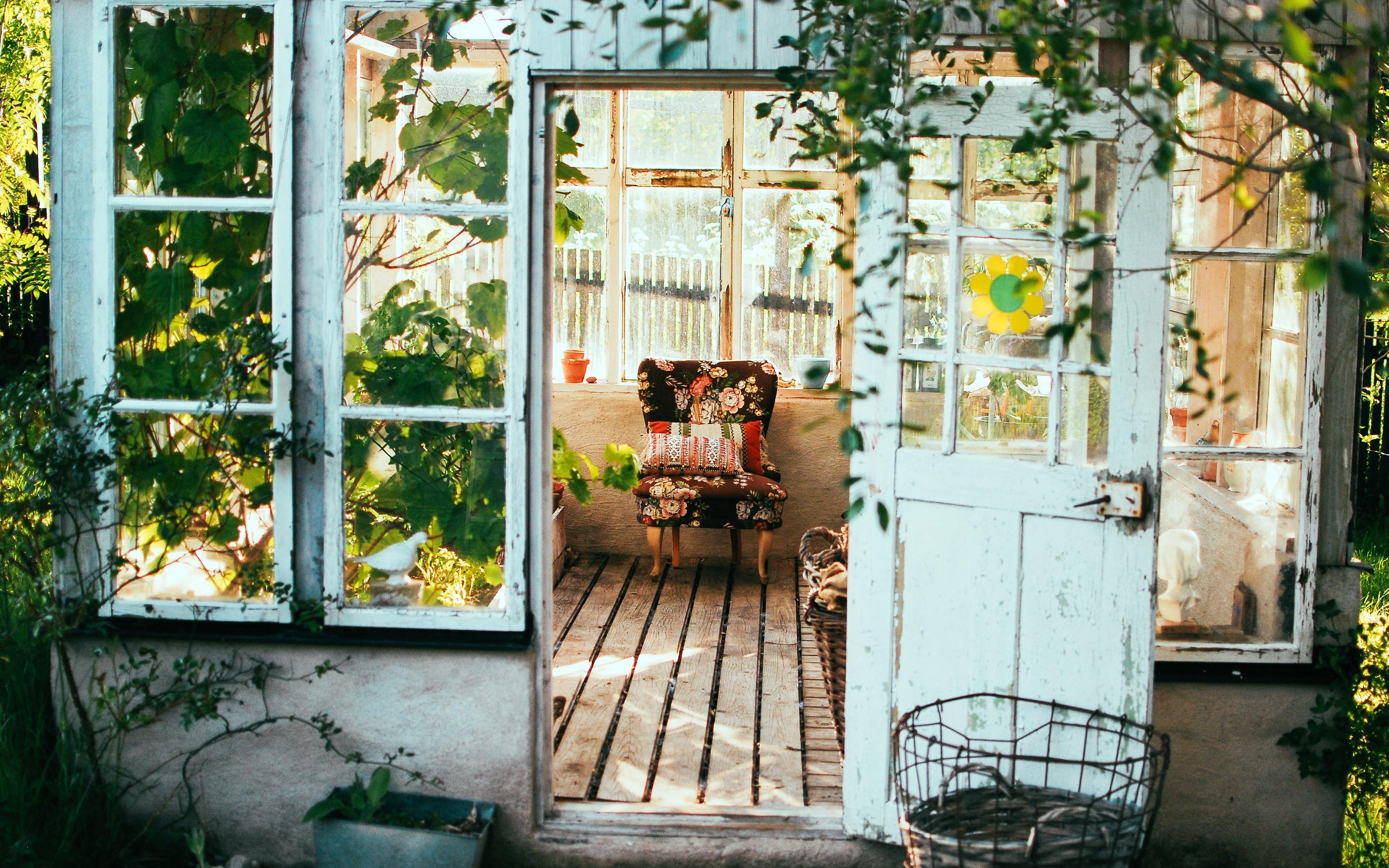 Kursi Pondok Dipan Gaya Country Desain Interior Cahaya Pedesaan Sofa Lantai Kayu