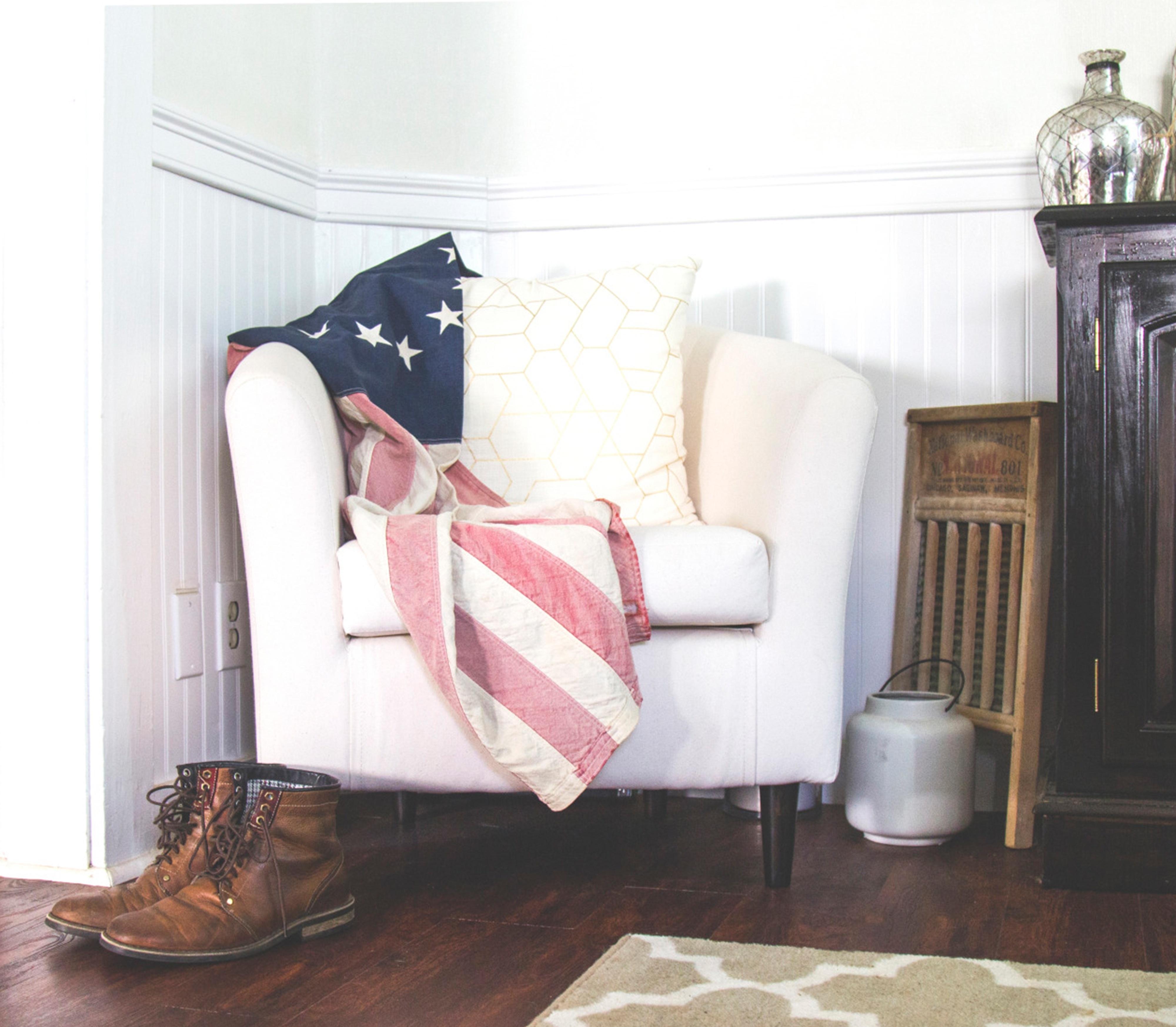 Fotos Gratis Silla Relajarse Bandera Estadounidense Sala  # Muebles Costera