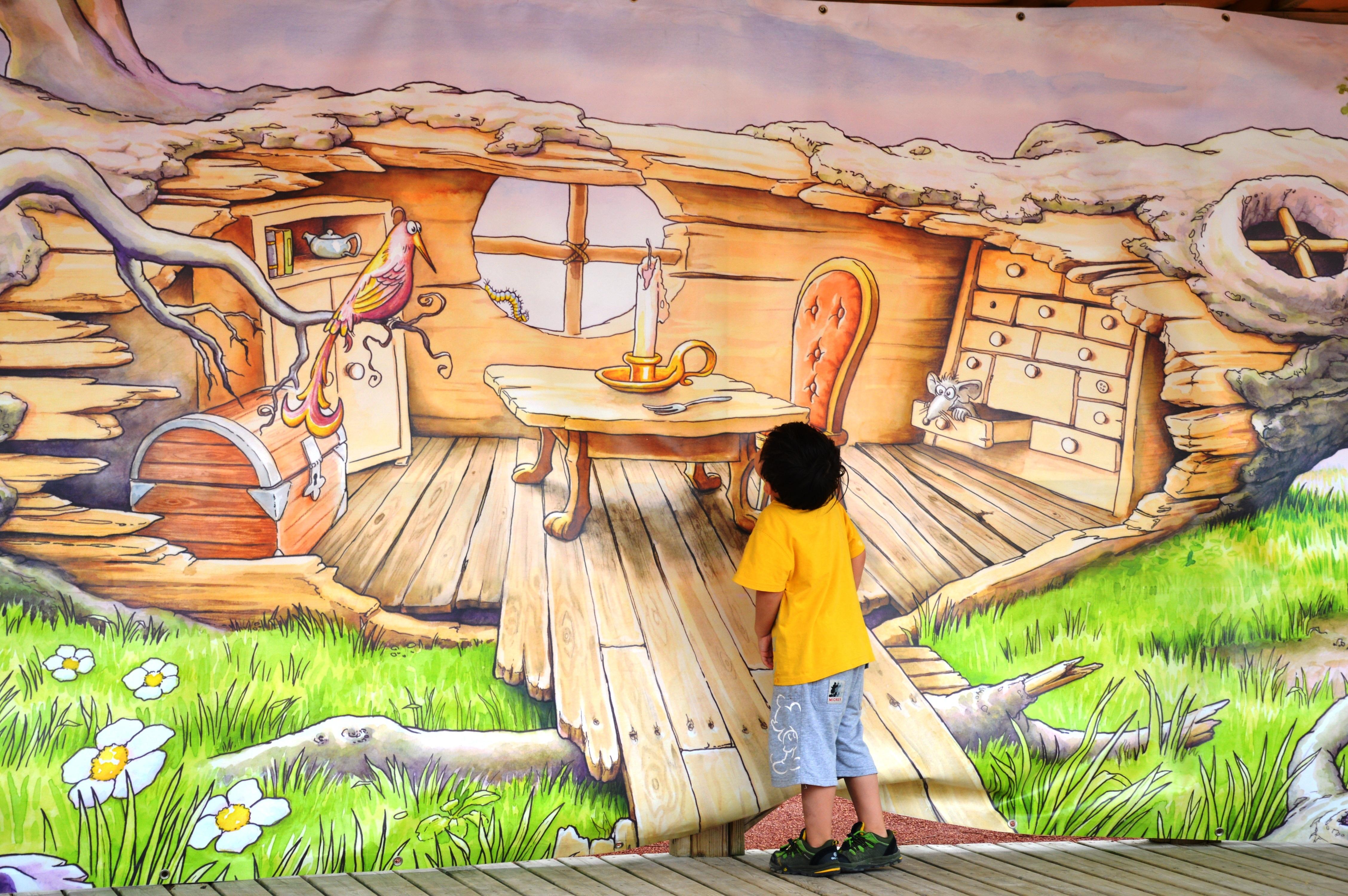 Gambar Anak Dekorasi Seni Mimpi Ilustrasi Lukisan Dinding