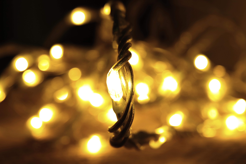 christmas lights depth field gold lights abstract yellow light lighting night sunlight macro photography darkness light