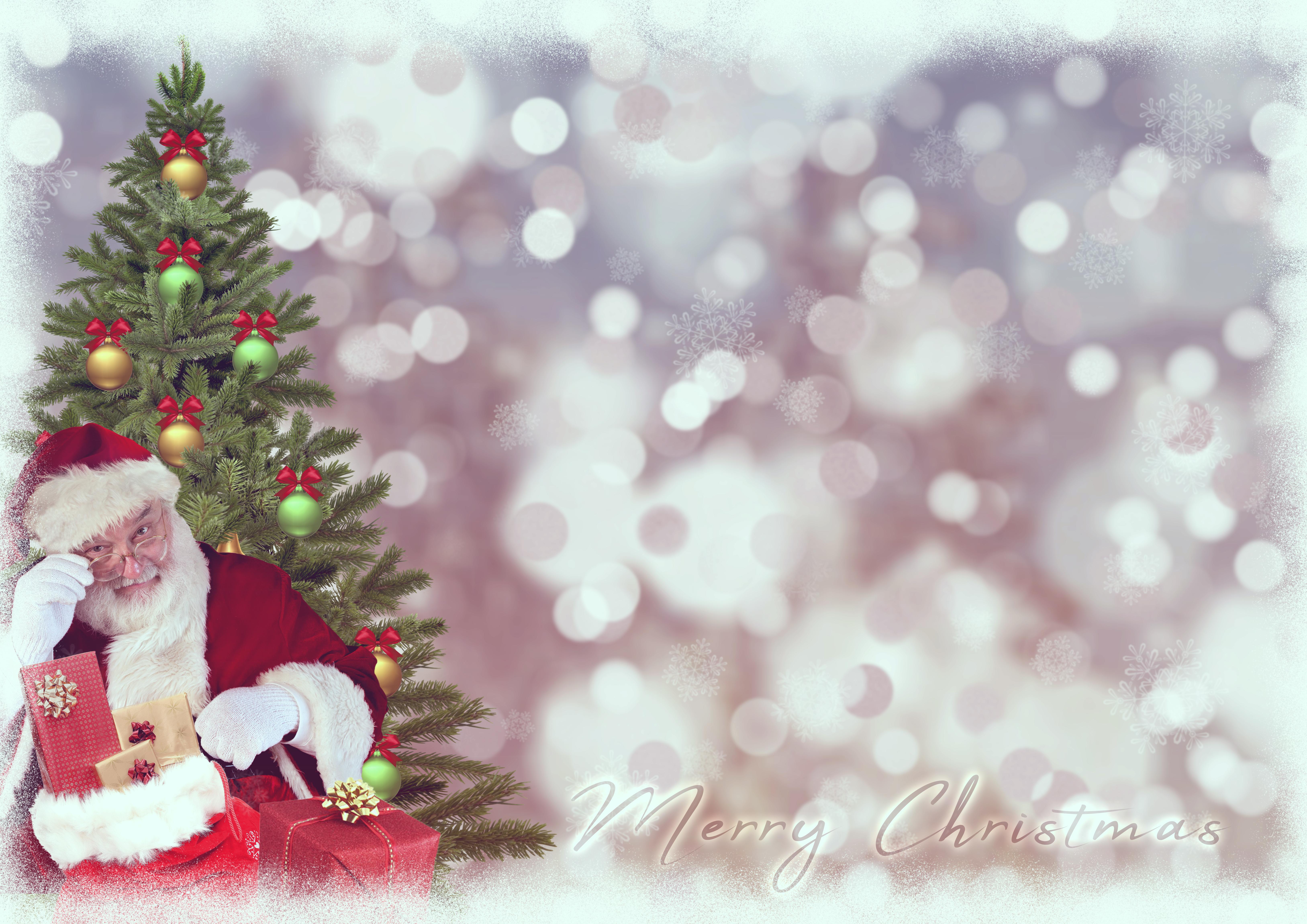 Kostenlose foto : christmas motive, Weihnachtsmann, Weihnachtsbaum ...