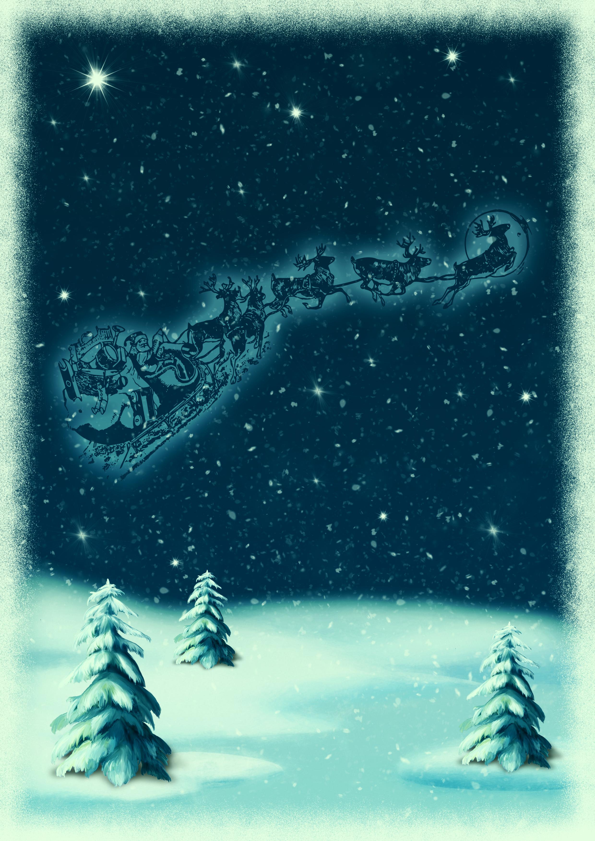 Kostenlose foto : christmas motive, Verschneite Landschaft ...