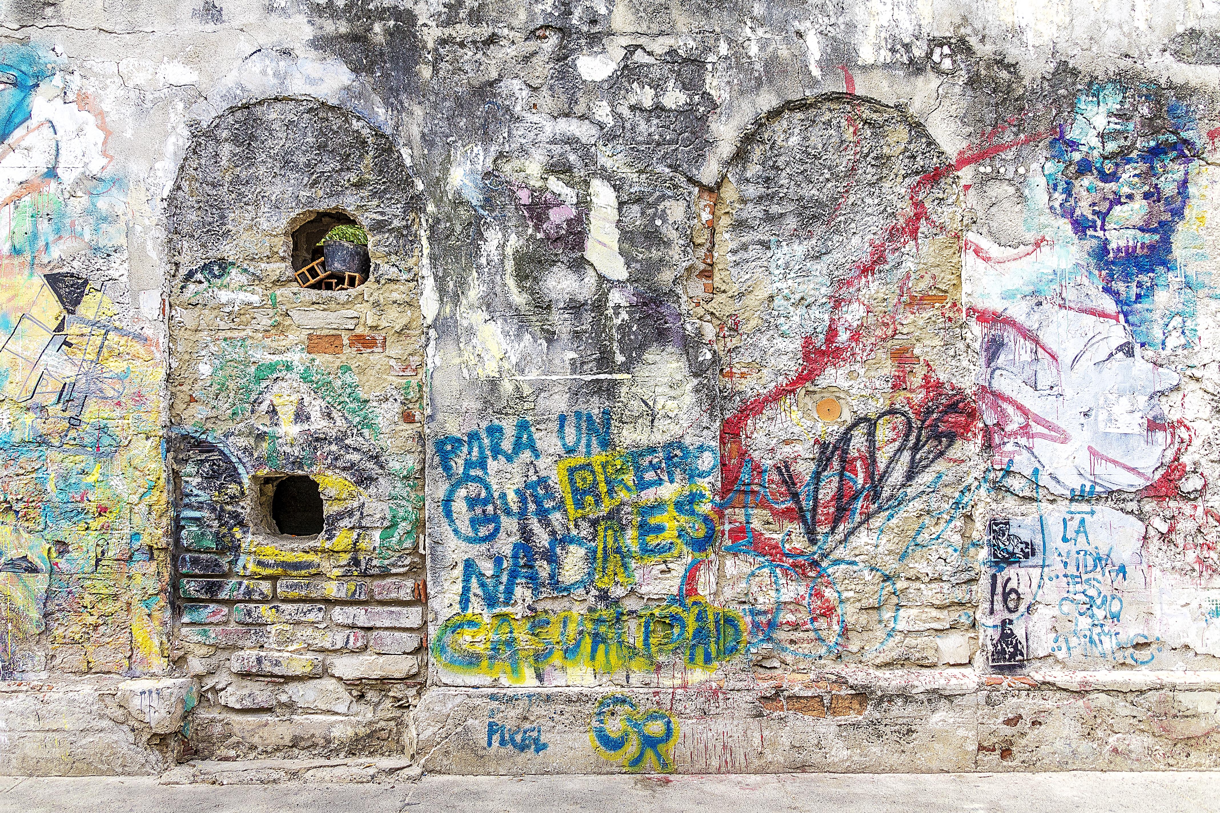 Fotoğraf şehir Renk Sanatsal Grunge Duvar Yazısı Boyama