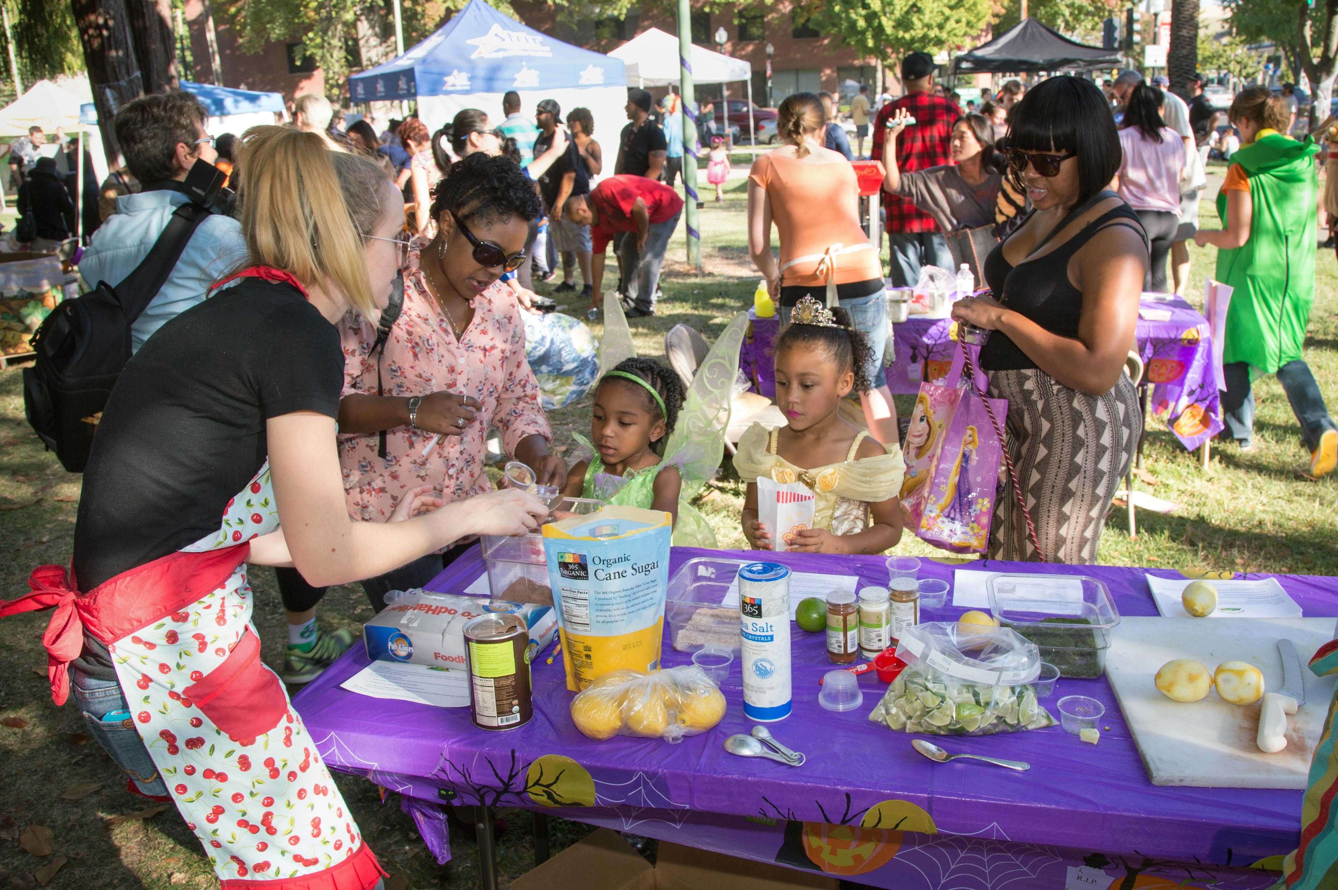 city vendor halloween bazaar market public space picnic kids festival dogs fair midtown costumes sacramento mitchellpark