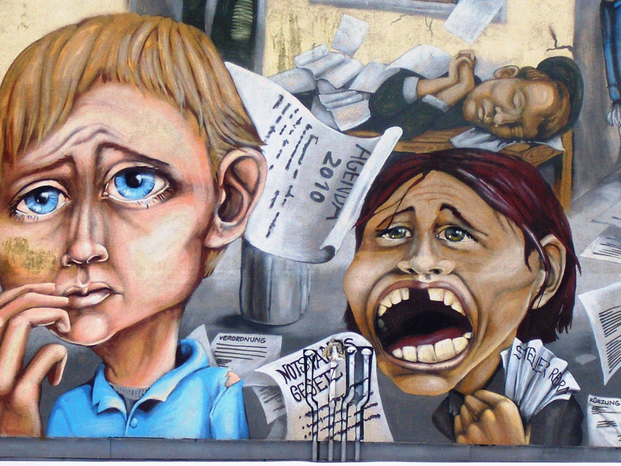Gambar Kota Coretan Seni Sketsa Ilustrasi Lukisan Dinding